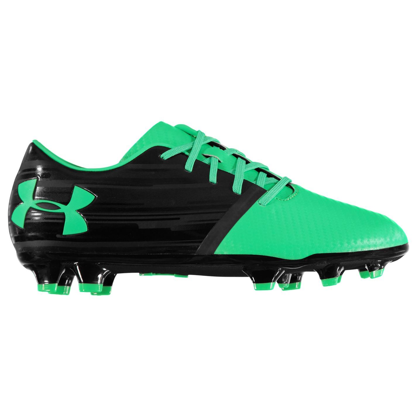 78ac464c0307 ... Under Armour Spotlight BL FG Firm Ground Football Boots Mens Black  Soccer Cleats ...