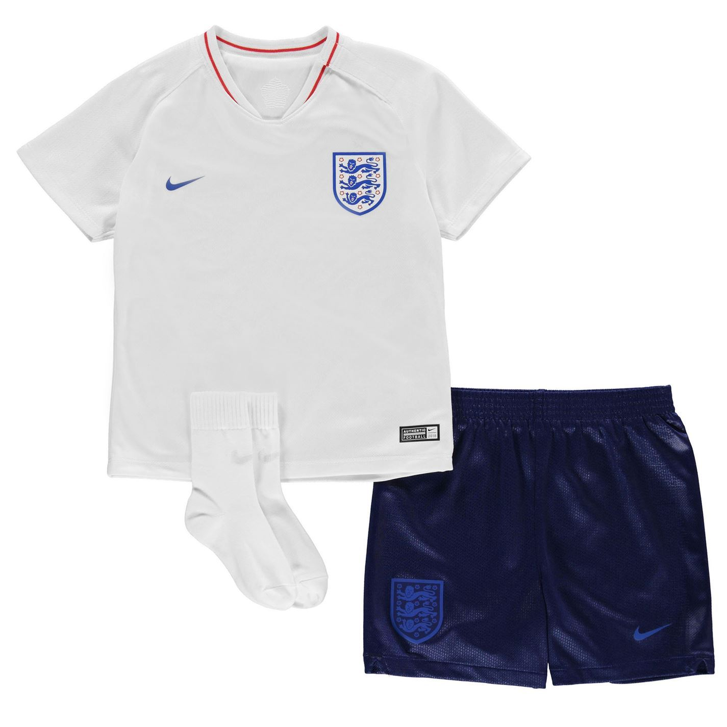8684a20e0bb8ed ... Camicia Top Nike Inghilterra Home Baby Kit 2018 neonati bianco/Royal  Football Soccer ...