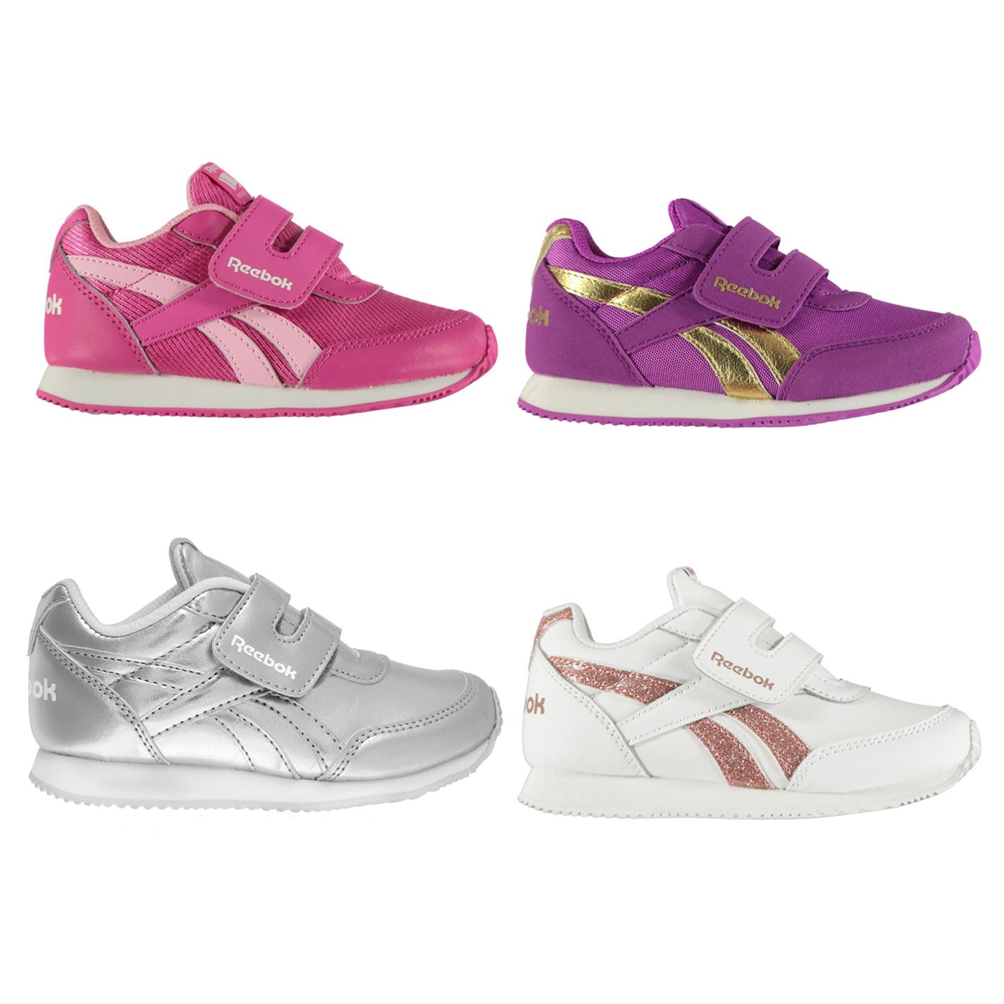 Details about Reebok Classic Jogger RS Infant Girls Trainers Shoes Footwear
