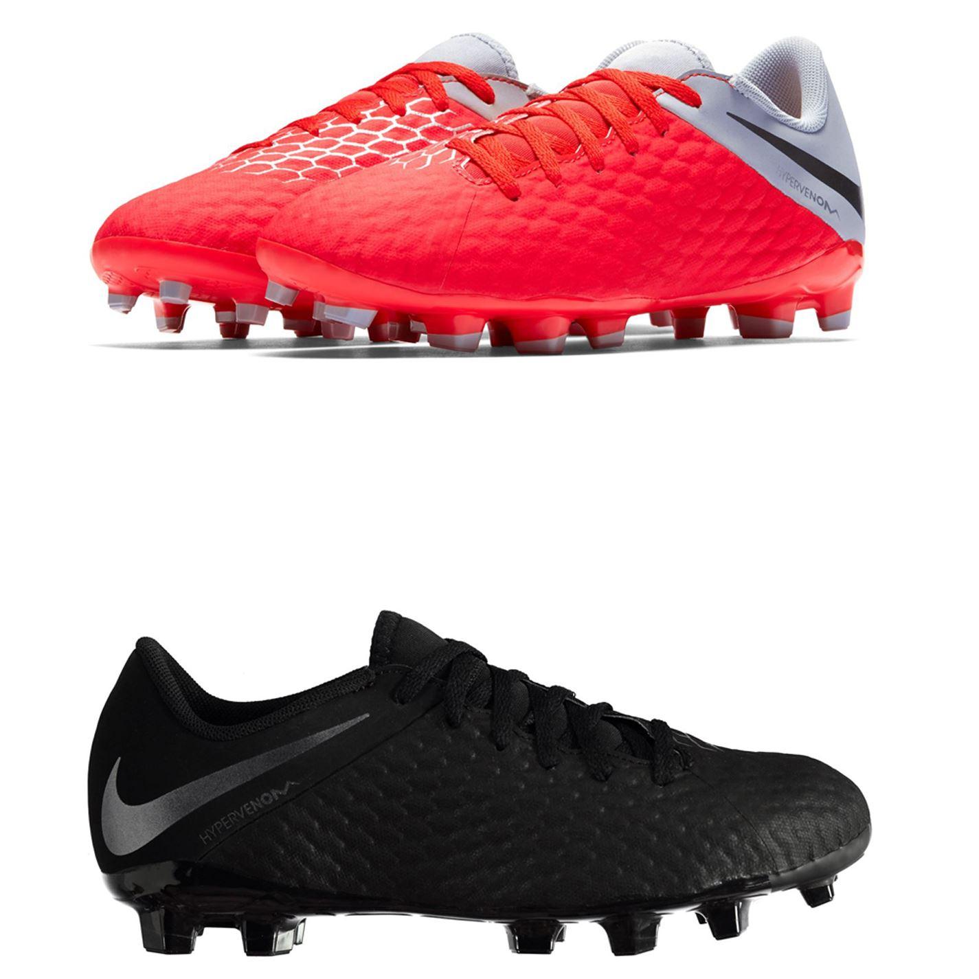 Détails sur Nike Hypervenom Phantom Academy Football Bottes Sol Ferme Juniors Crampons de