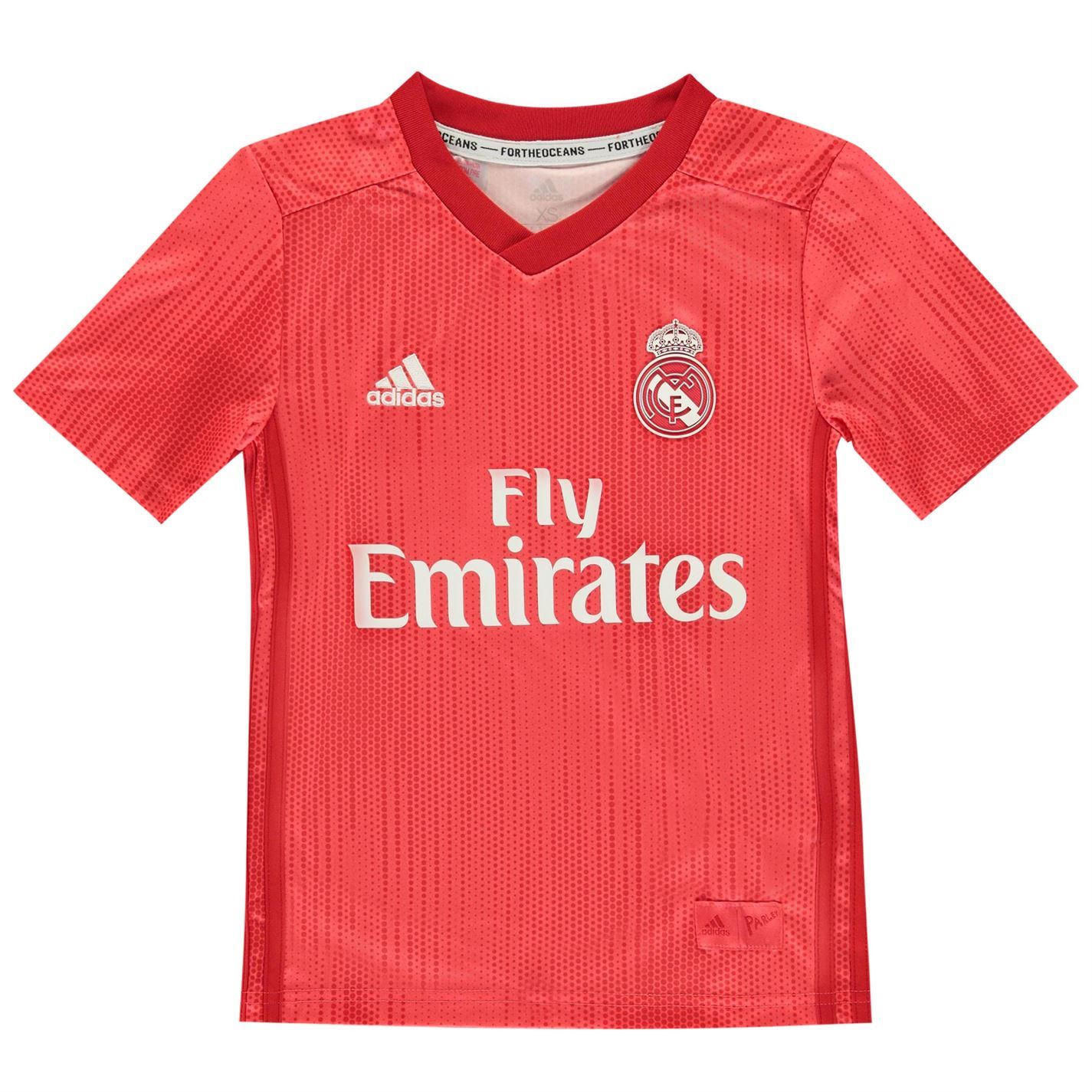 54ceacfeaad adidas Real Madrid Third Jersey 2018 2019 Juniors Red Football Soccer Shirt  Top