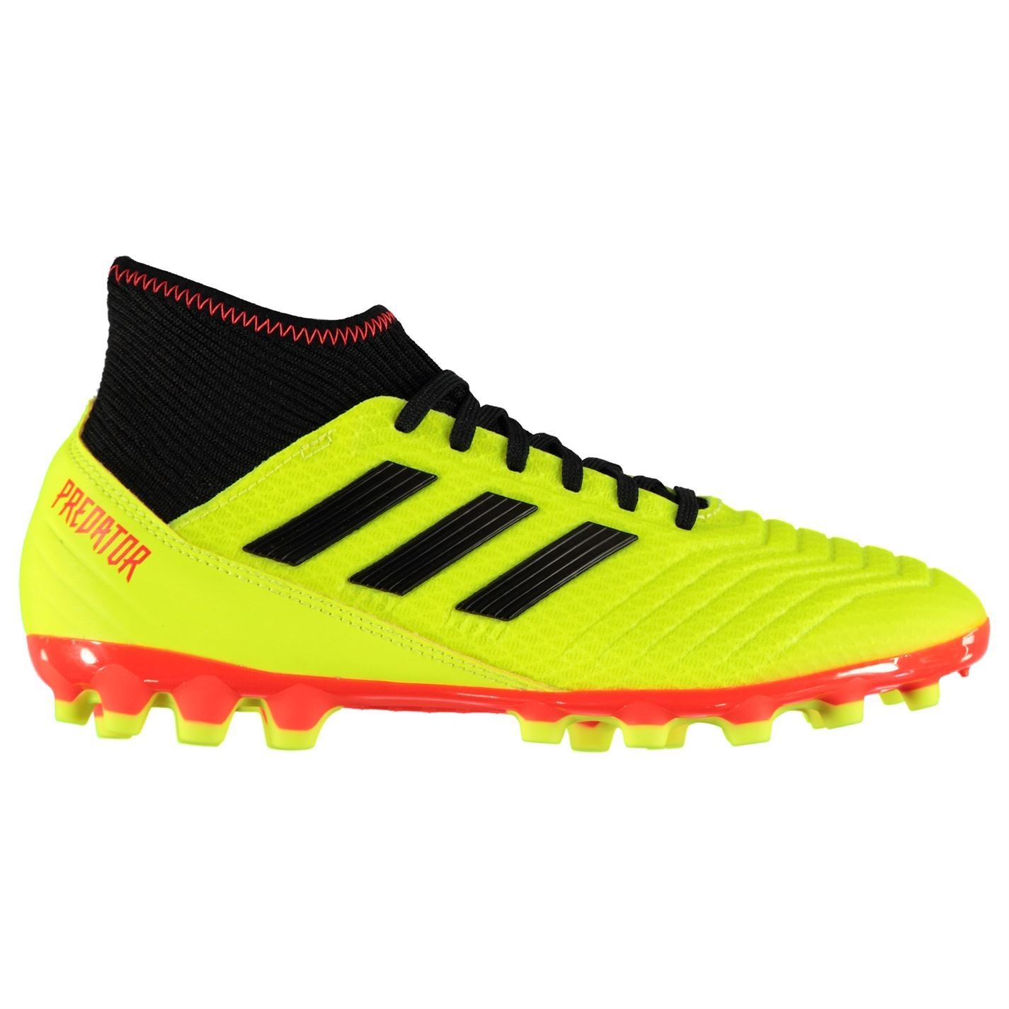 7c98c8fe4f22 adidas Predator 18.3 AG AG Football Boots Mens Yellow Soccer Shoes Cleats