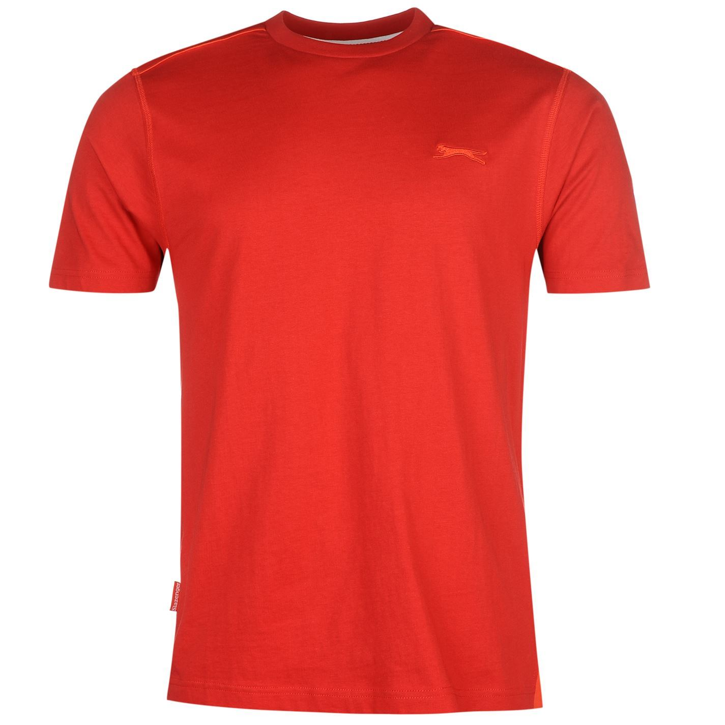 f9bbe1b44f ... Slazenger Plain T-Shirt Mens Red Sportswear Top Tee Shirt ...