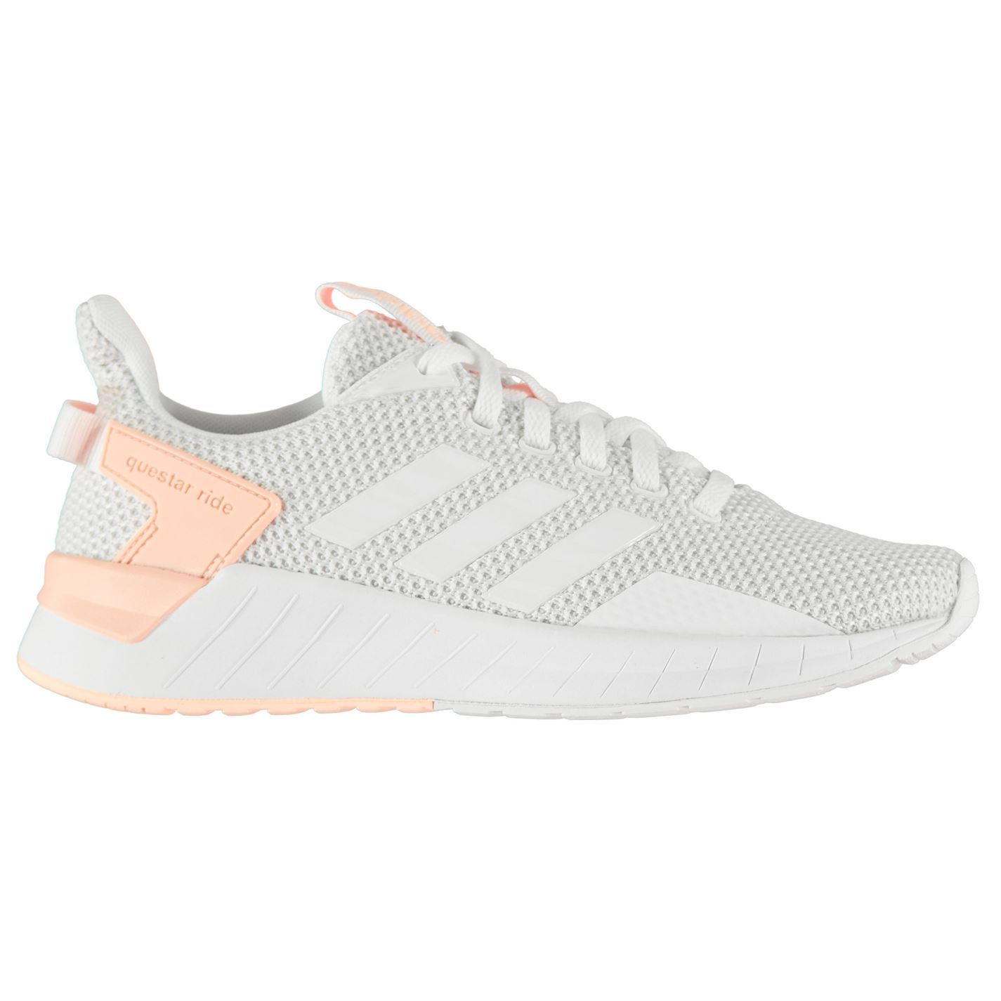 5ccd71c1228 ... adidas Questar Ride Running Shoes Womens White Coral Jogging Trainers  Sneakers ...