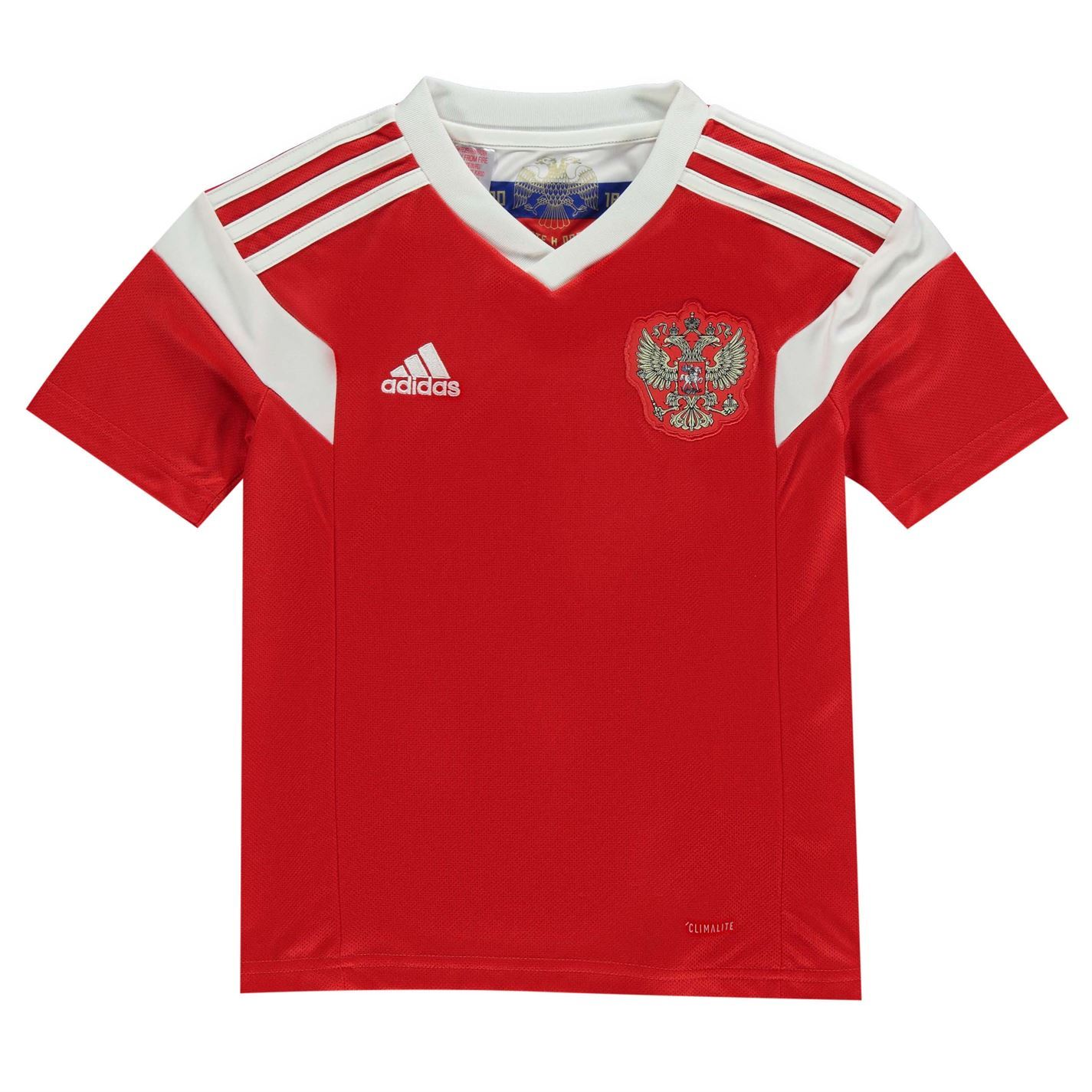 Adidas Russia Home Jersey 2018 Juniors Red White Football