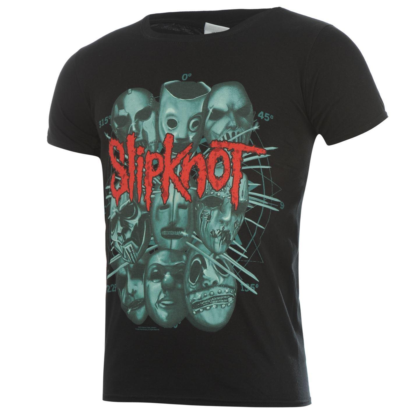 Official-Slipknot-T-Shirt-Mens-Masks-Top-Tee-Tshirt thumbnail 3