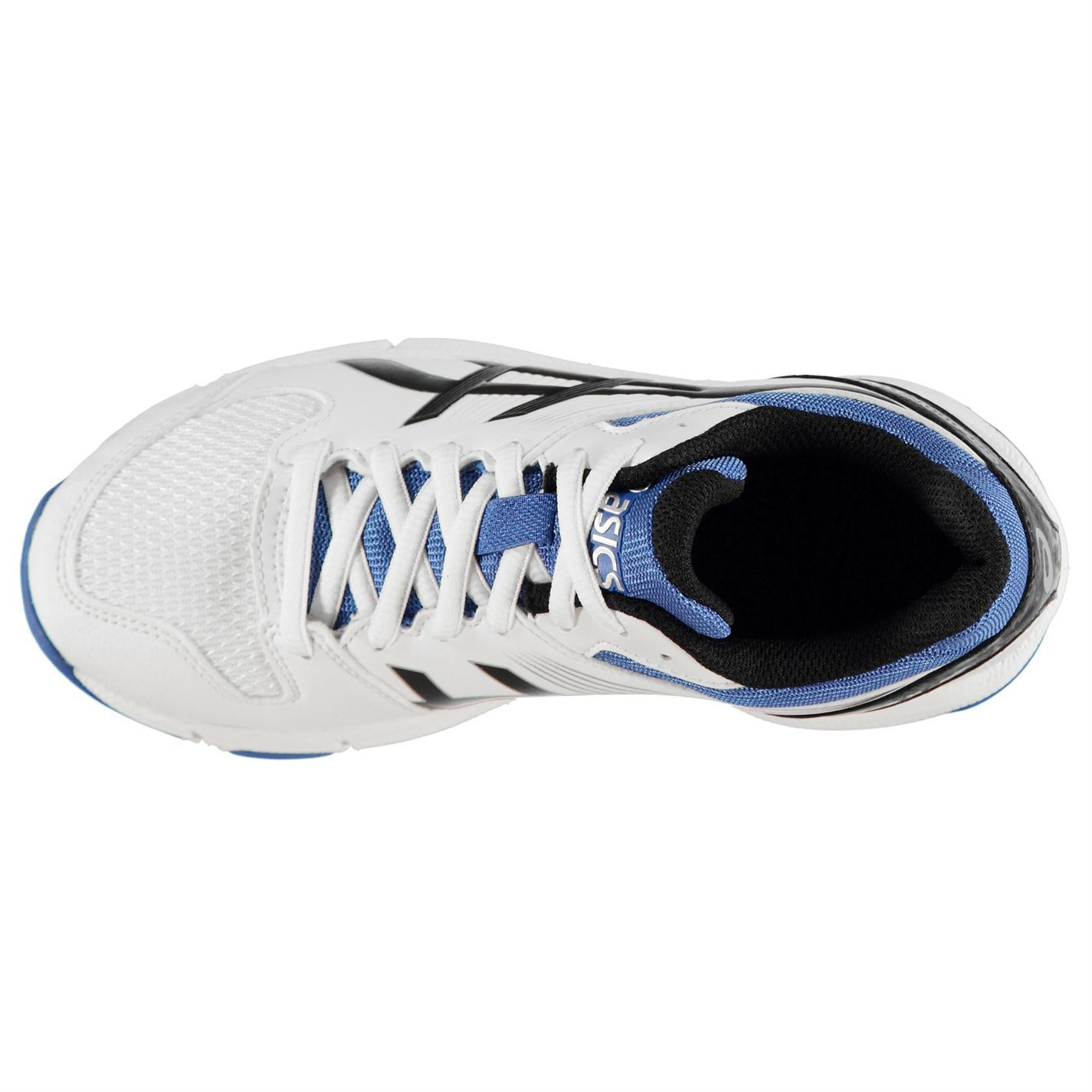 Details about Asics Gel 100 Not Out Cricket Shoes Juniors WhiteOnyxBlue Spikes Trainers