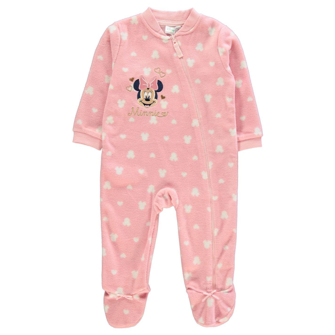 orologio f62de 2c447 Dettagli su Minni Intero Pigiama Bambine Character Wear Rosa Tutti in Uno