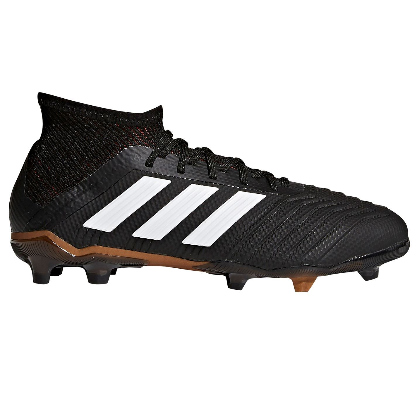 d30a70a90 ... adidas Predator 18.1 Firm Ground Football Boots Childs Black Soccer  Shoes Cleats ...