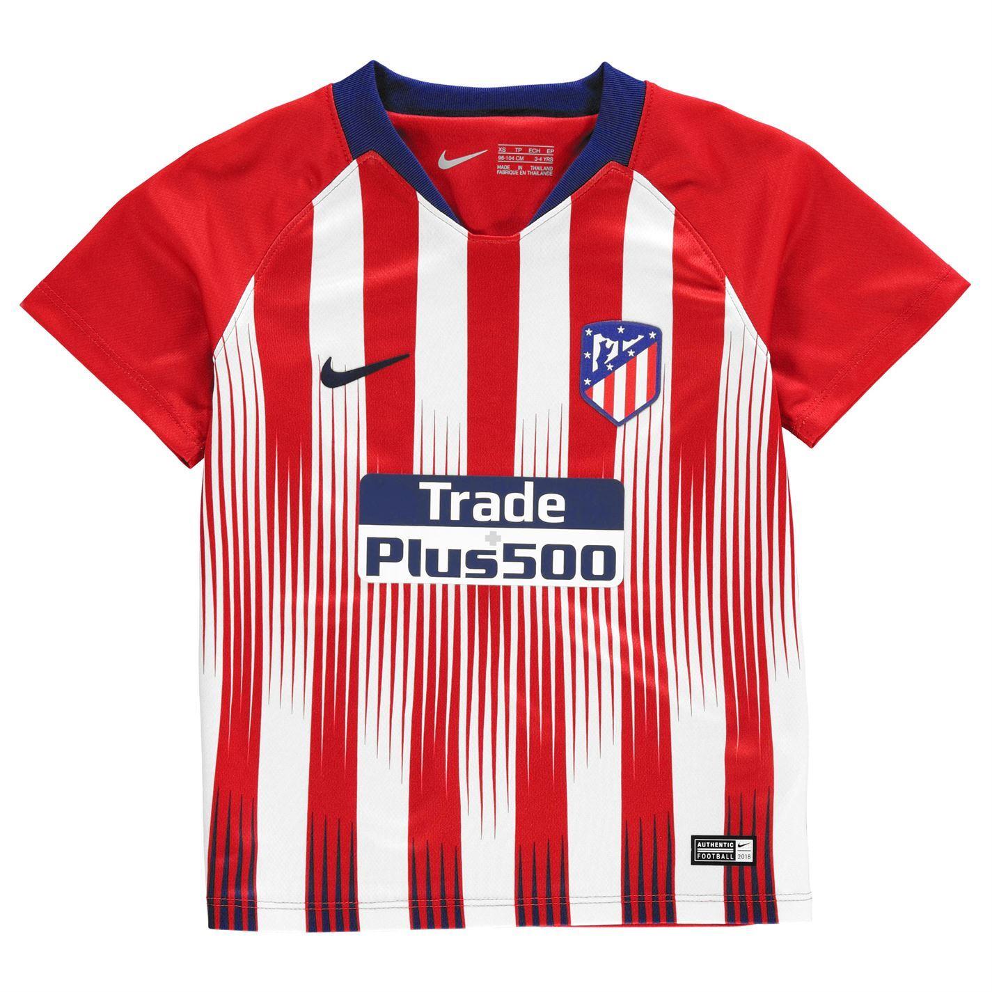 bcccc490b ... Nike Atletico Madrid Home Mini Kit 2018 19 Infants Red/Wht Football  Soccer Strip ...
