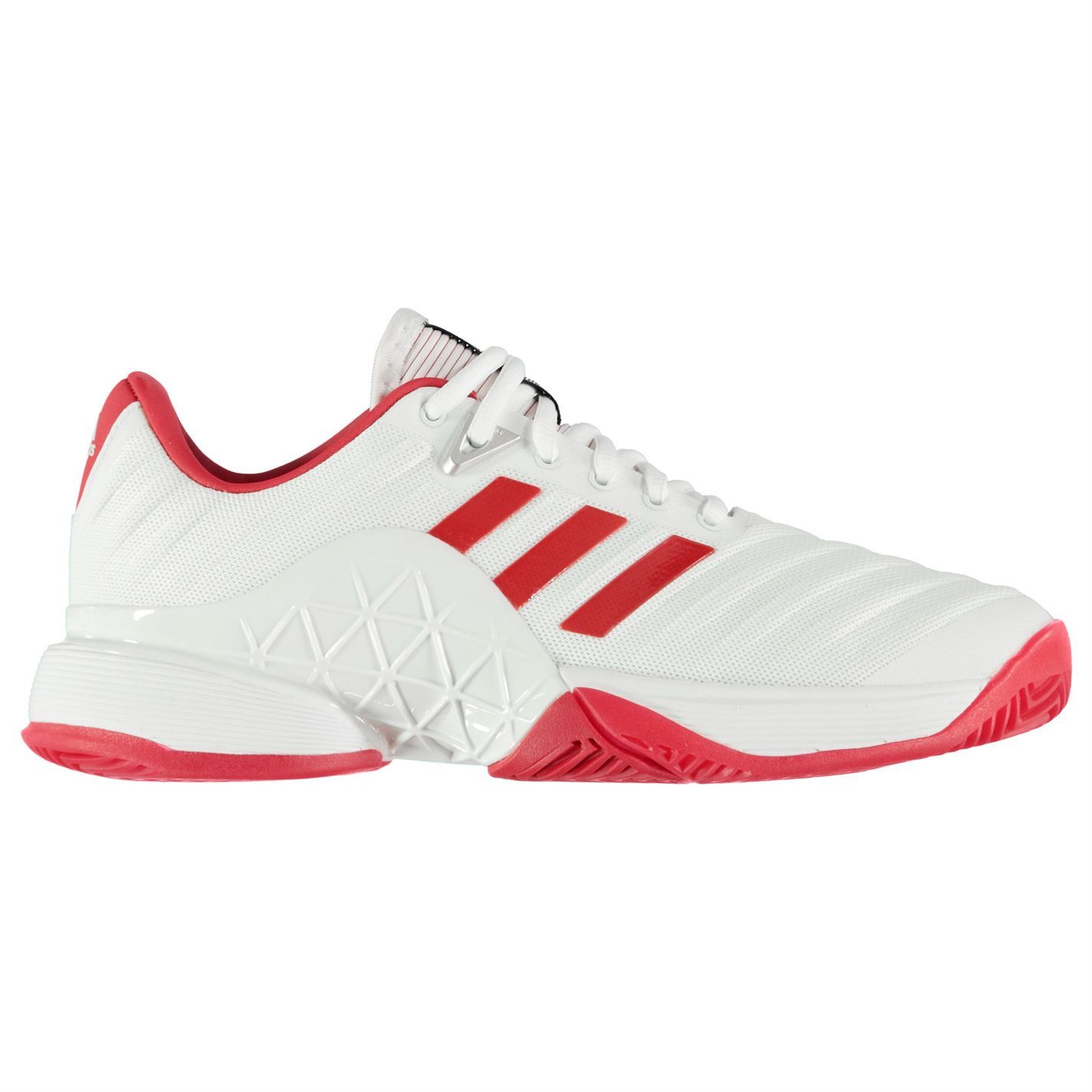 best authentic 222c3 95749 ... adidas Barricade 2018 Tennis Shoes Womens White Red Court Trainers  Sneakers ...