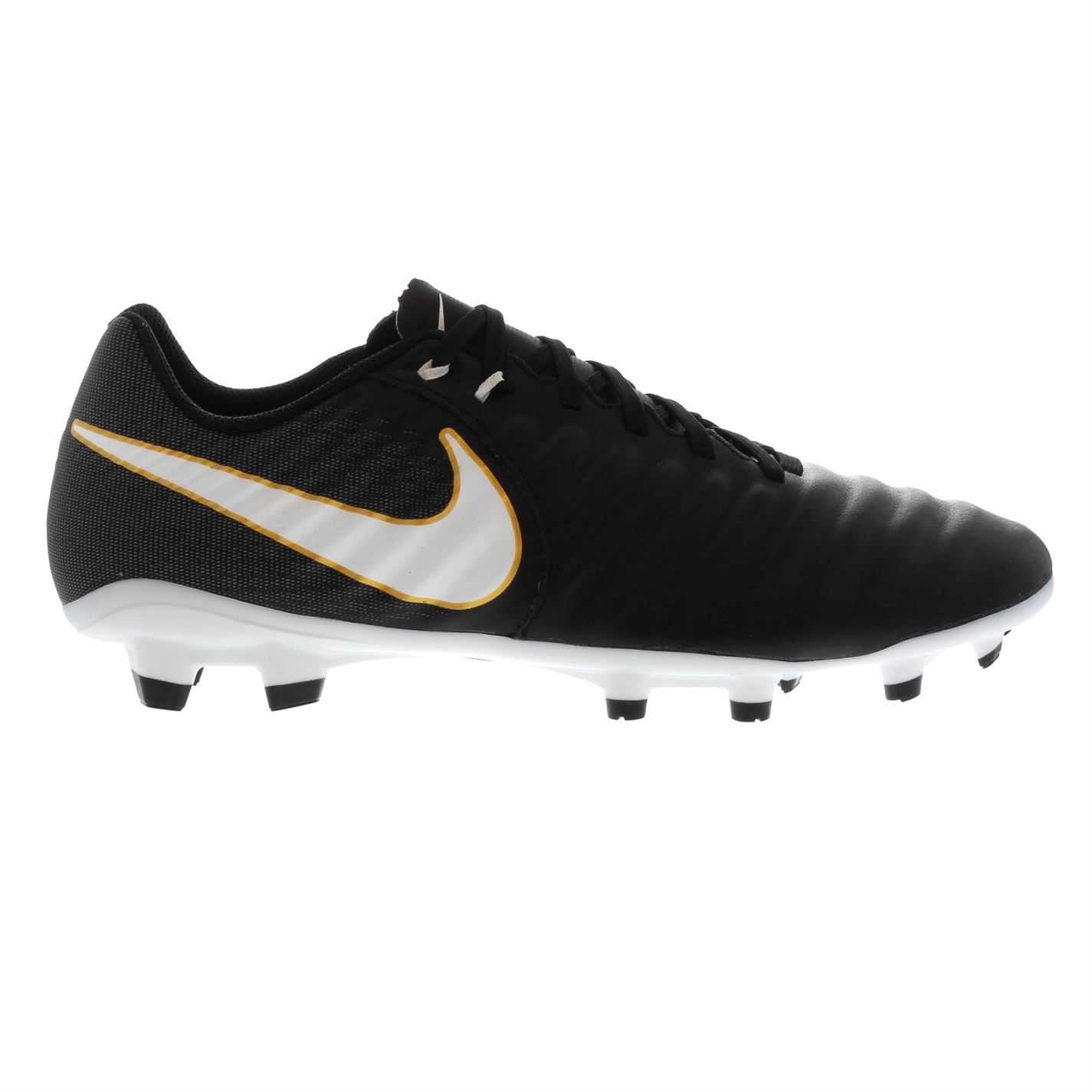 0f8c5c0f ... Nike Tiempo Ligera FG Firm Ground Football Boots Mens Black Soccer Shoes  Cleats ...