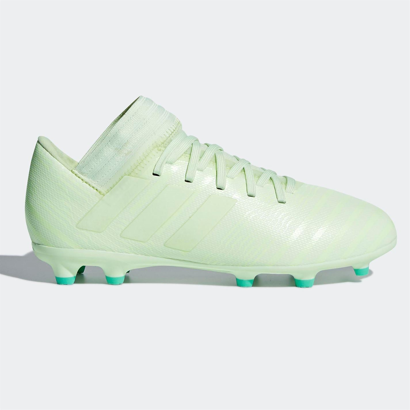 ... adidas Nemeziz 17.3 FG Firm Ground Football Boots Childs Green Soccer  Cleats ... 0c49673854b70