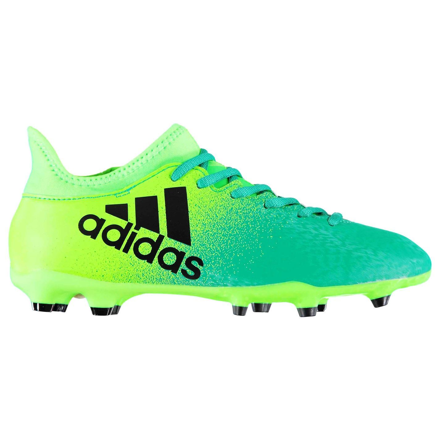 38af7ce0fa01 ... adidas X 16.3 FG Firm Ground Football Boots Mens Green Black Soccer  Cleats Shoes ...