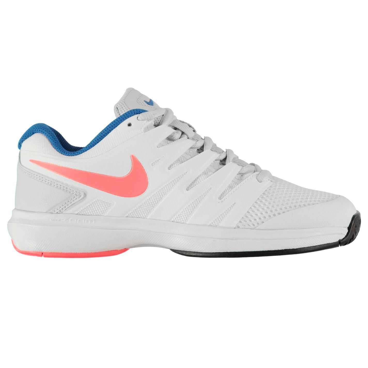quality design a7412 aaabb ... Nike Air Zoom Prestige Tennis Shoes Womens WhiteLava Court Trainers  Sneakers ...