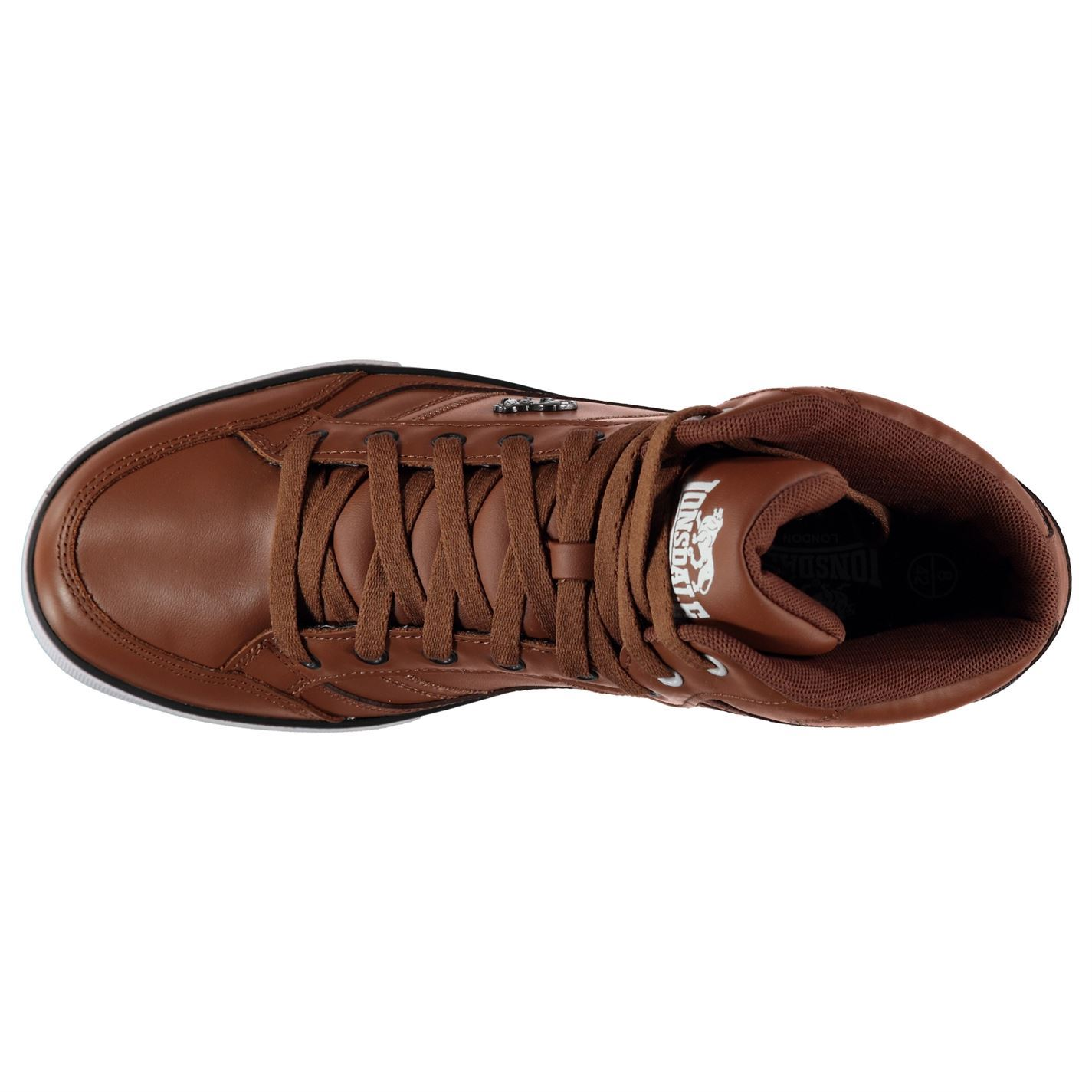 Lonsdale Canons Trainers Mens Tan//White Casual Sneakers Shoes Footwear