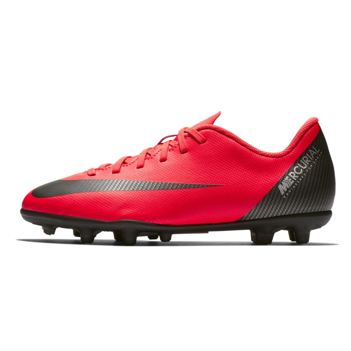c9253328199 ... Nike Mercurial Vapor Club CR7 FG Football Boots Juniors Red Soccer Shoes  Cleats ...