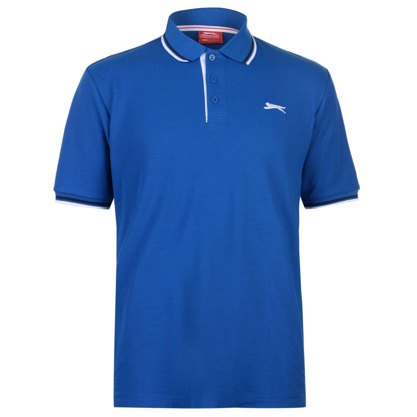Slazenger-Polo-Camisa-de-hombre-con-cuello-con-Punta-T-Shirt-Top-Camiseta-Tee miniatura 12