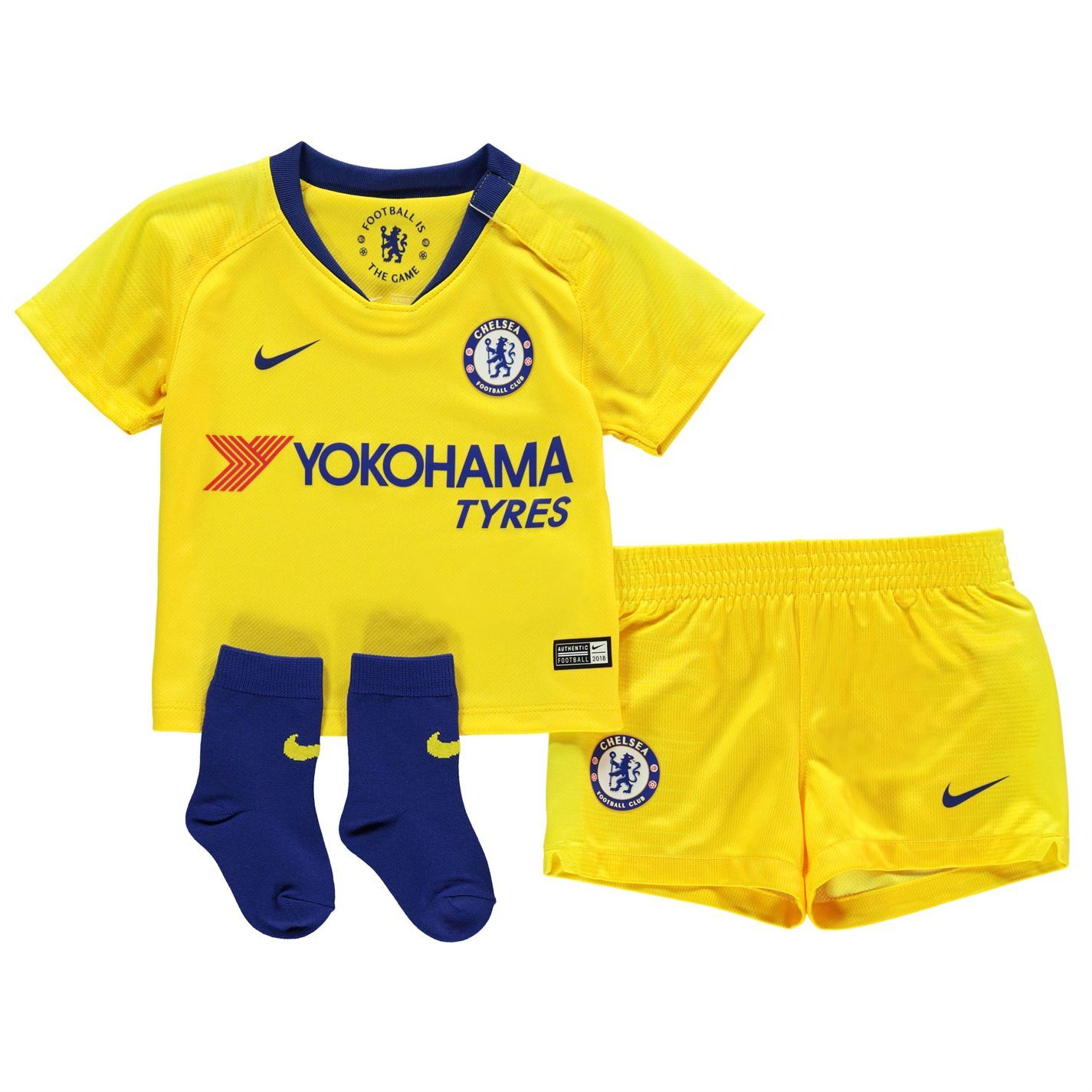 size 40 fd923 2e8d4 Details about Nike Chelsea Away Baby Kit 2018 2019 Infants Yellow Football  Soccer Strip