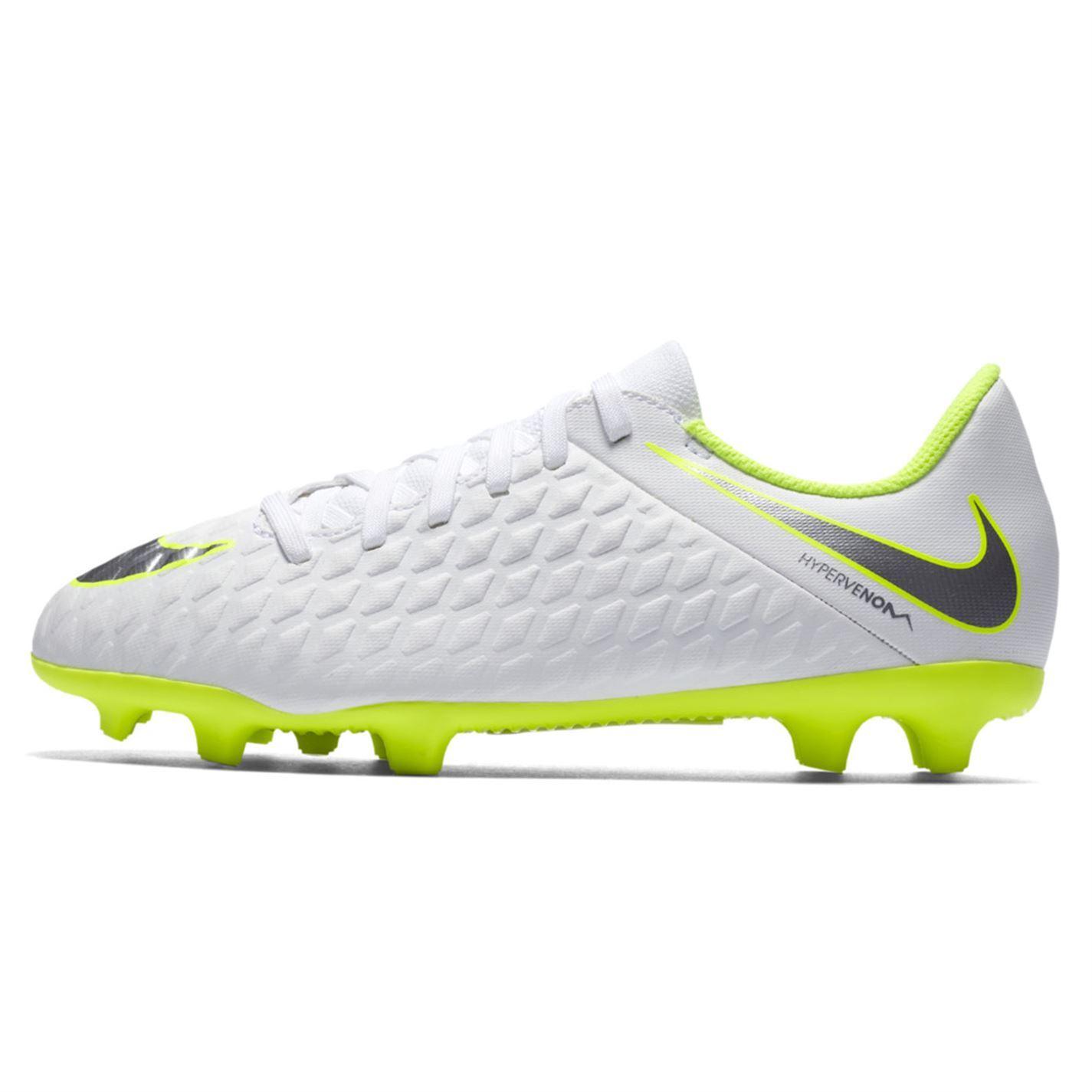 e3ea78441169 Details about Nike Hypervenom Phantom Club FG Football Boots Juniors White  Soccer Shoes Cleats