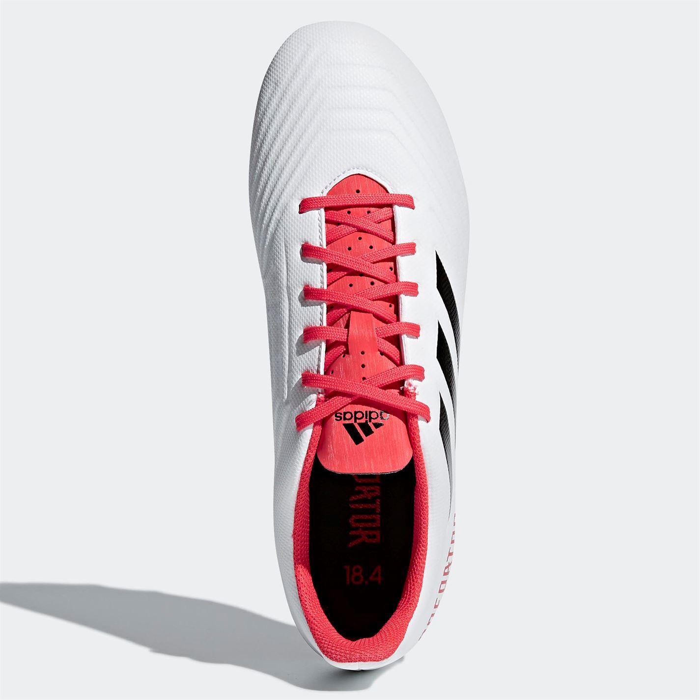 2d5c06c4b180d ... Adidas Predator 1 8.4 firma tierra fútbol botas para hombre blanco rojo  futbol tacos ...