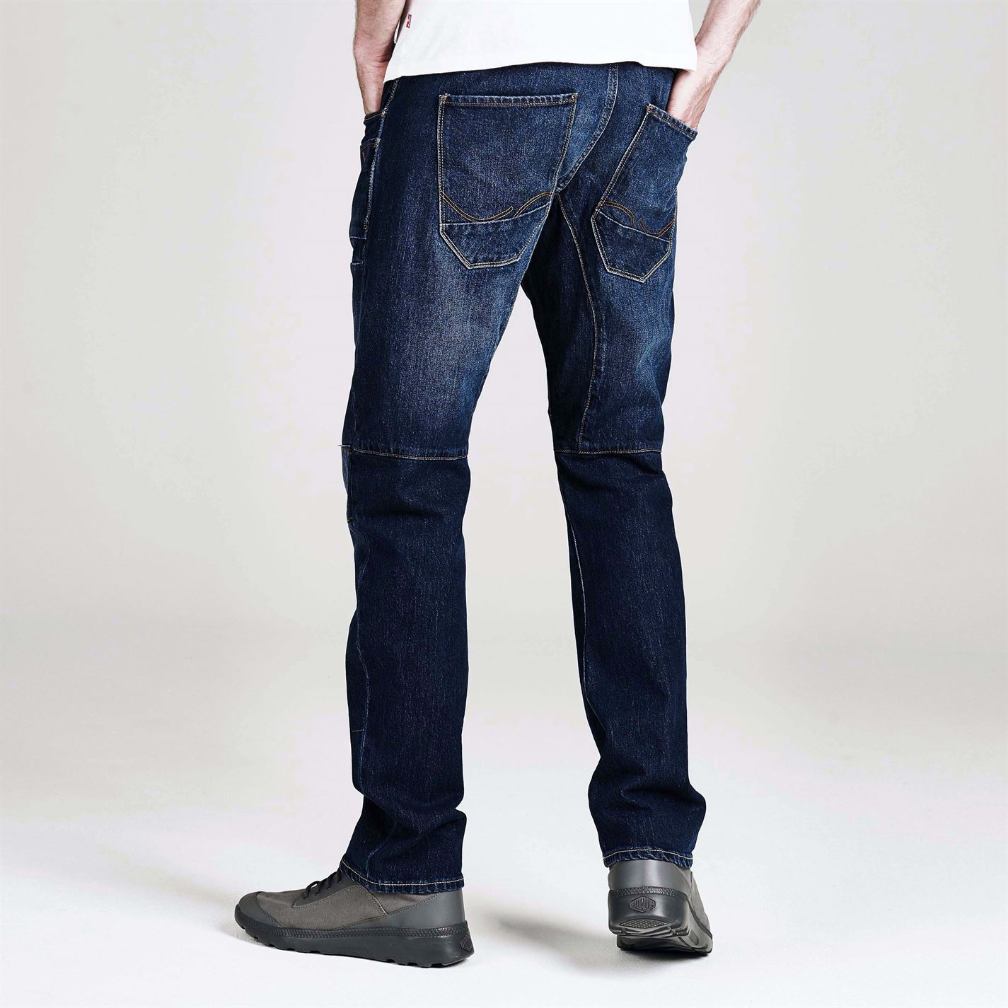 Jean-Denim-Jack-and-Jones-Stan-Osaka-Anti-Fit-de-Jean-para-Hombre-Pantalones-Pantalon-Oscuro-Wash miniatura 10
