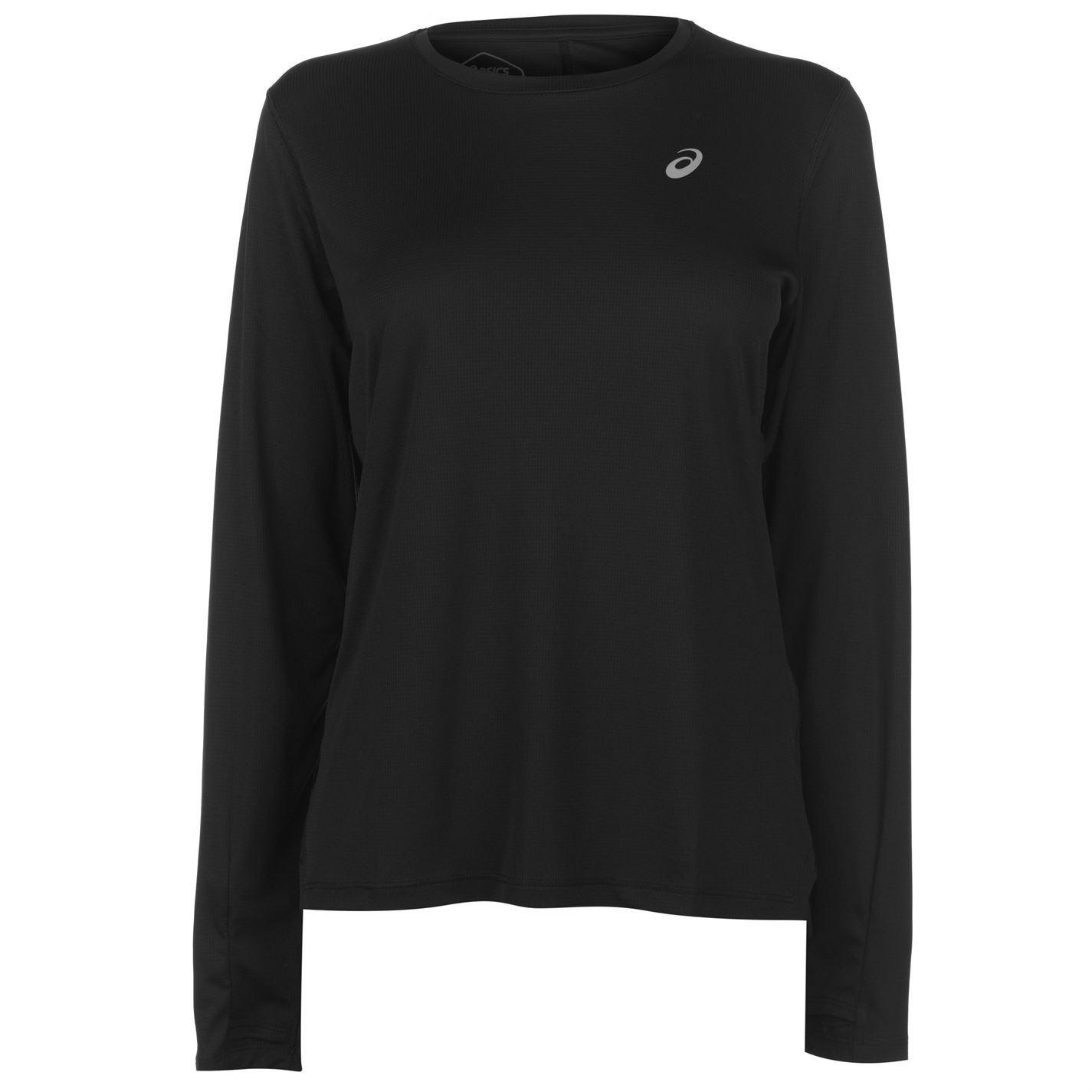 b563811a Details about Asics Long Sleeve Running T-Shirt Womens Black Fitness Top  Tee Shirt Activewear