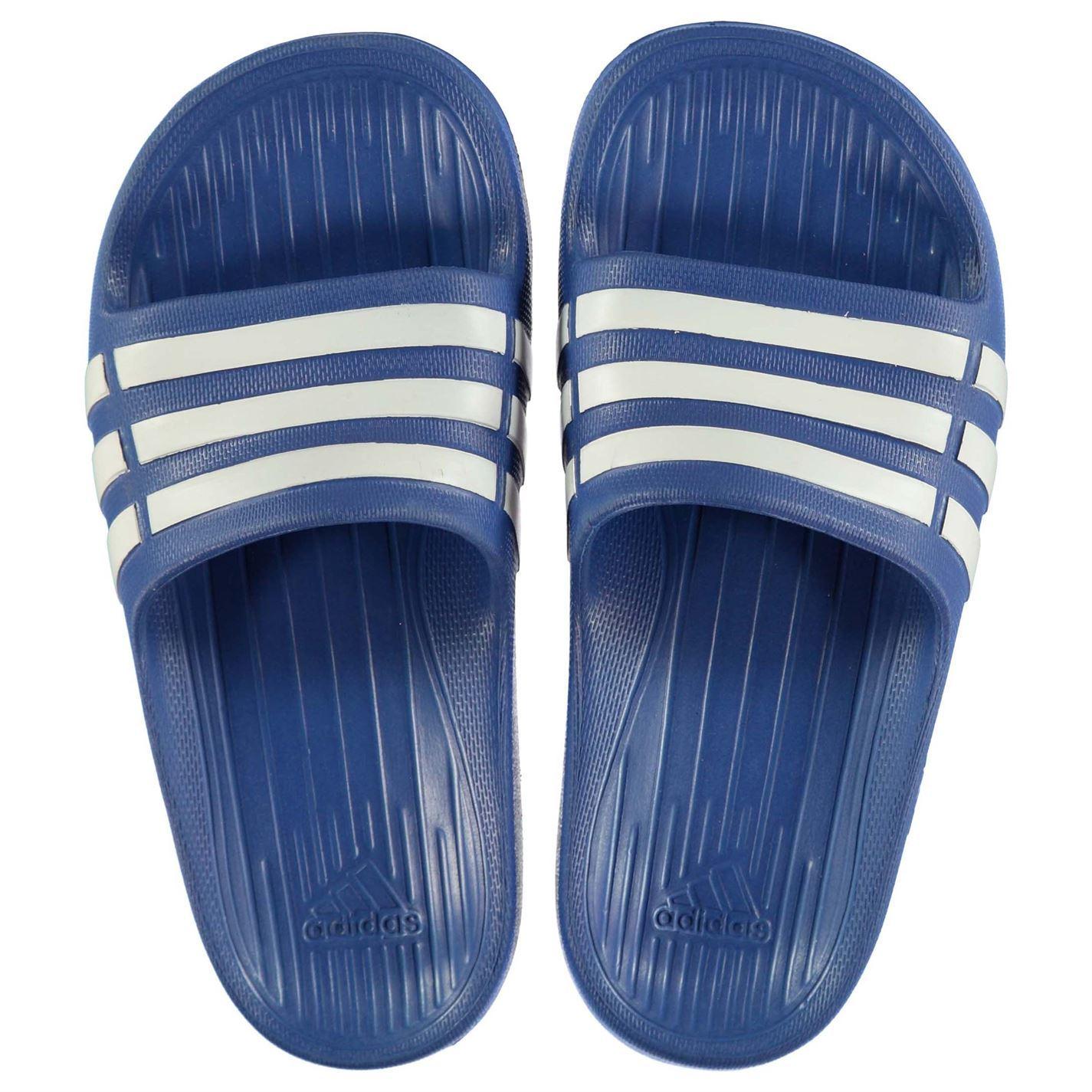 miniatura 11 - ADIDAS-Duramo-Slide-Piscina-Scarpe-Bambino-Ragazzo-Sandali-Infradito-Spiaggia-Scarpe-Thongs