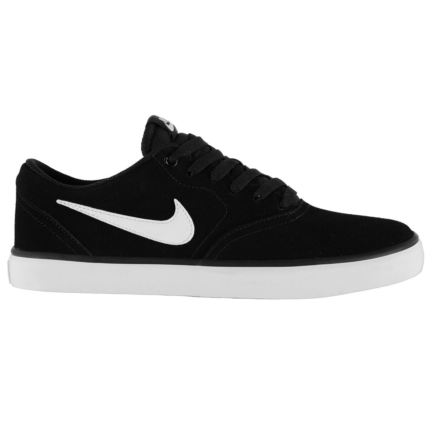 Details about Nike SB Check Solar Skate Shoes Mens Black/White Casual  Trainers Sneakers