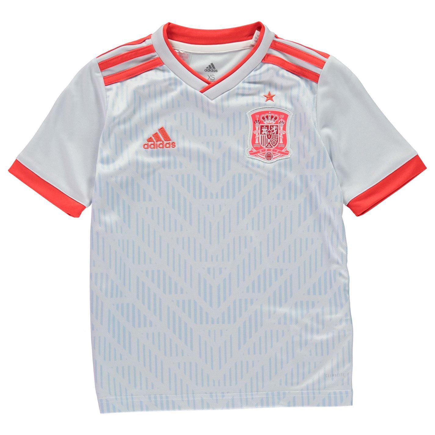 3ec202e35 adidas Spain Away Jersey 2018 Juniors Blue Red Football Soccer Top Shirt  Strip