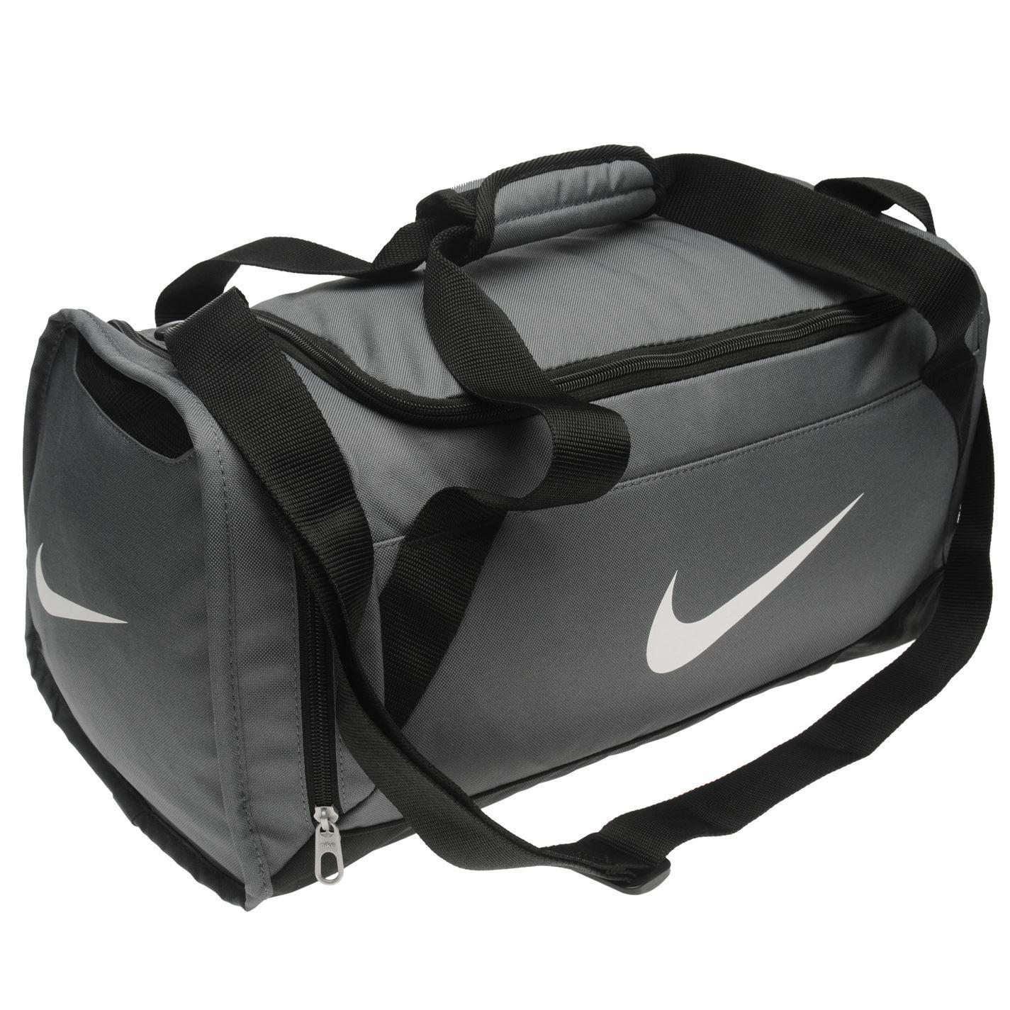 21d95d4afe Nike Brasilia Small Grip Sports Holdall Grey Gym Kit Bag Carryall | eBay