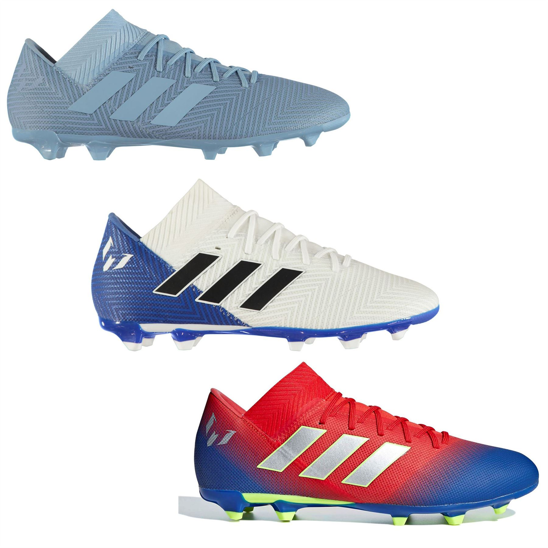 Details about adidas Nemeziz Messi 18.3 FG Firm Ground Football Boots Mens  Soccer Shoes Cleats