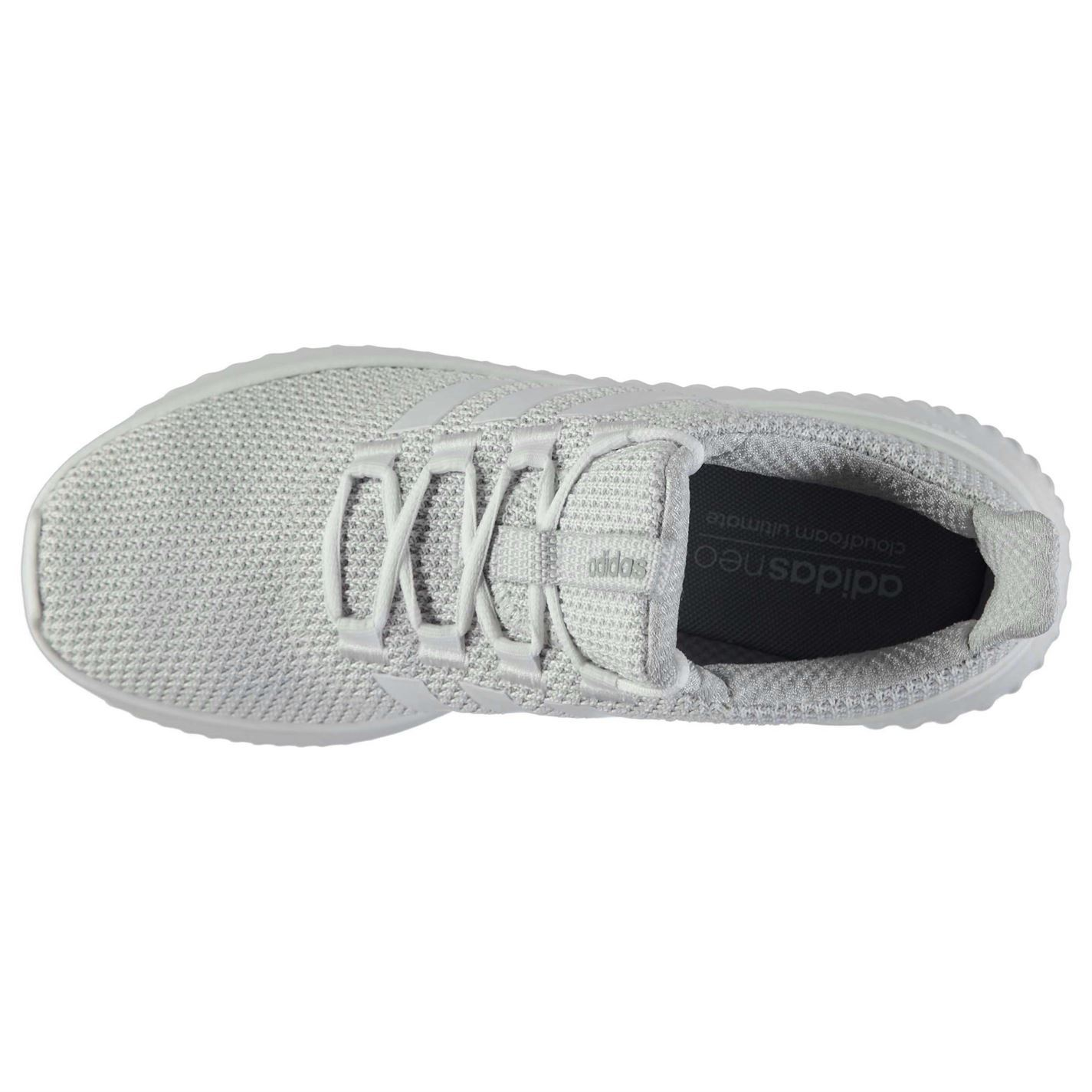 free shipping 59c0c eaaf3 ... adidas Cloudfoam Ultimate Trainers Mens White Athletic Sneakers Shoes