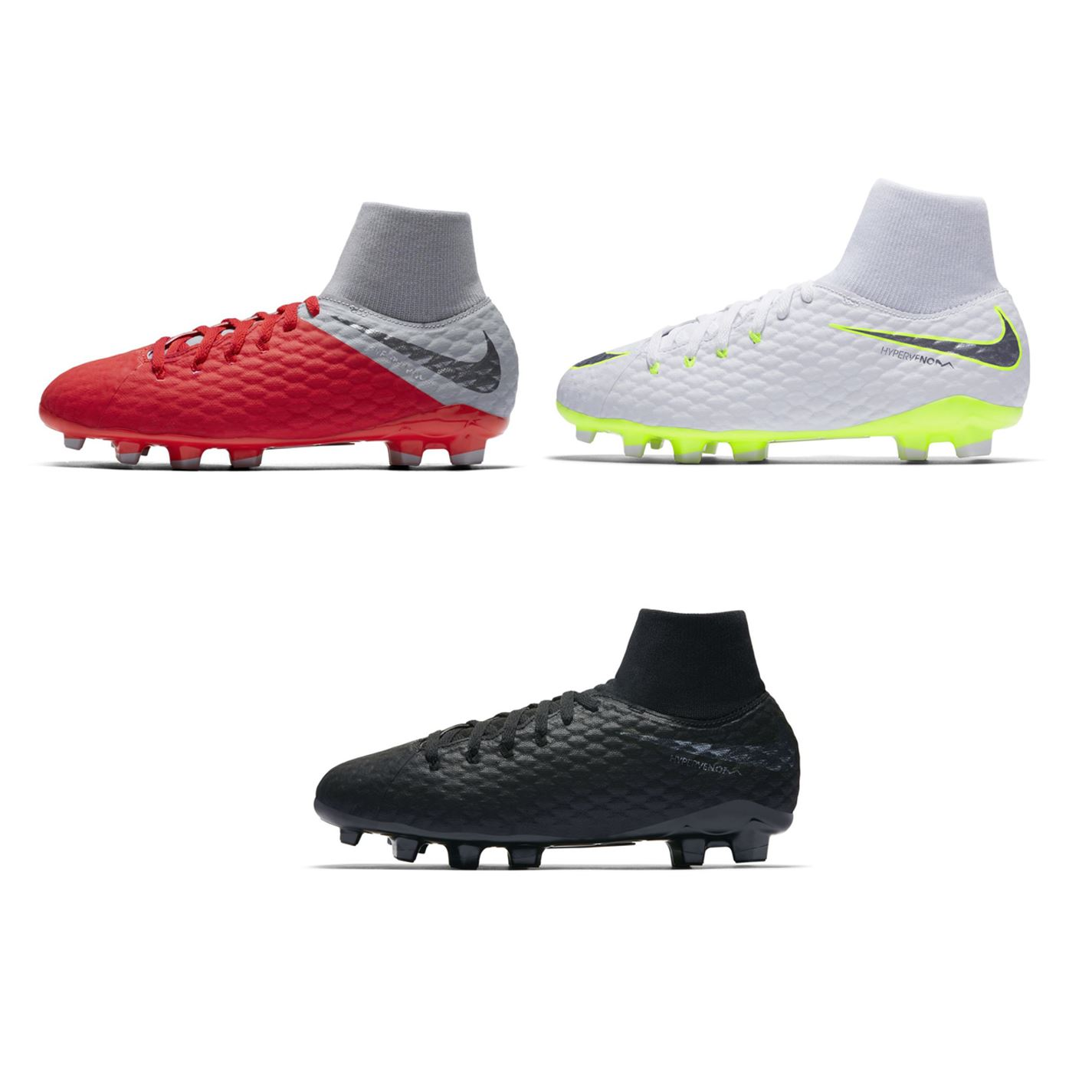 4e55b135a45 ... Nike Hypervenom Phantom Academy Firm Ground Football Boots Juniors  Soccer Cleats ...