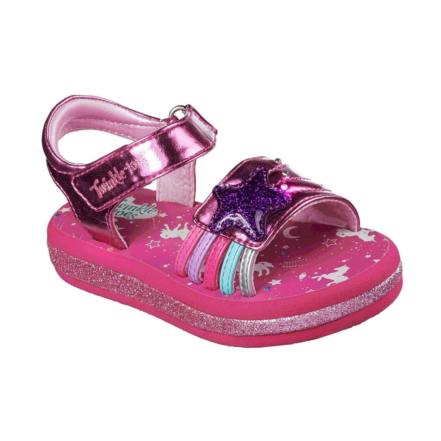 Skechers Toddler Girls Twinkle Toe Sunshine Sandals