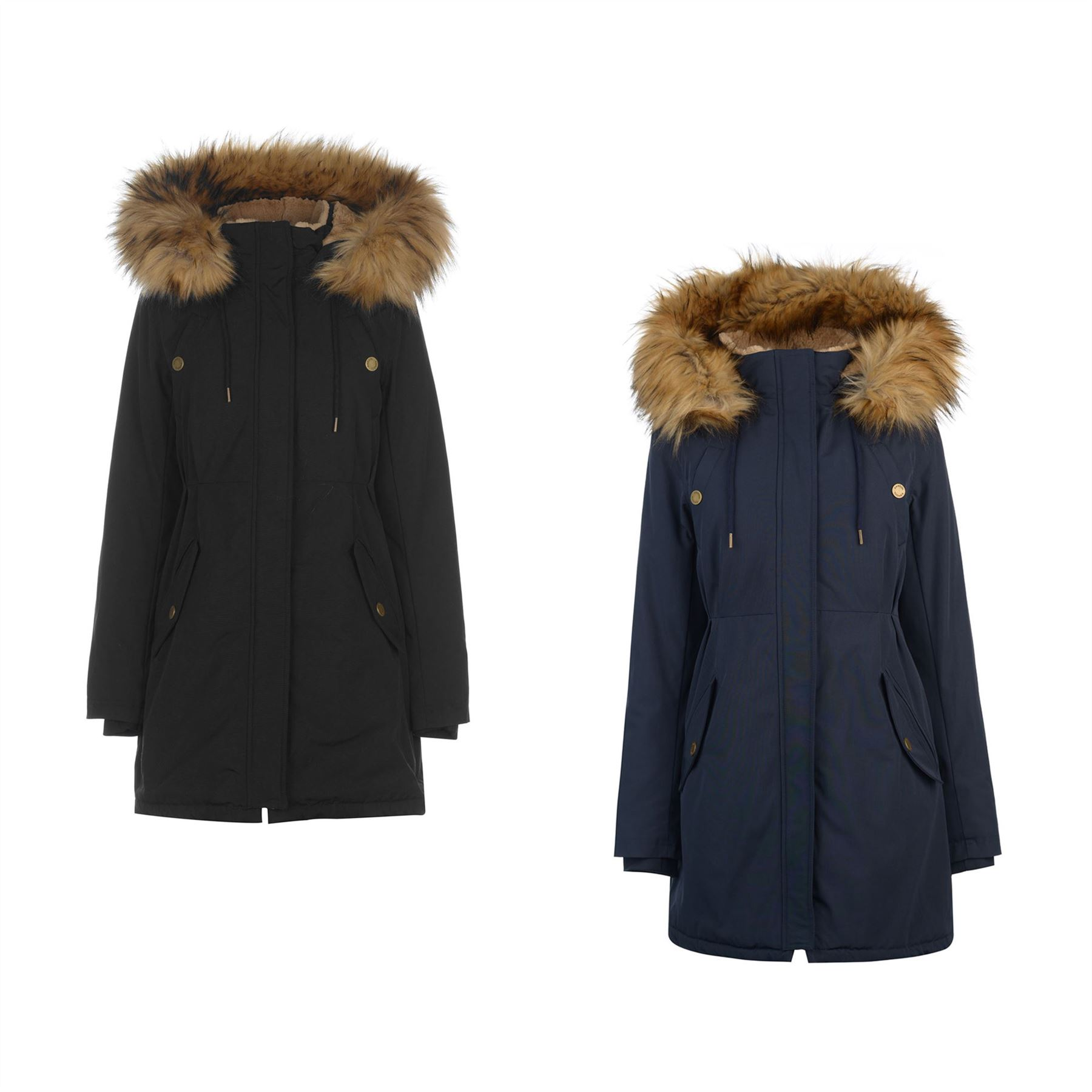 Details about Kangol Classic Parka Jacket Womens Coats Outerwear 0929ef1216