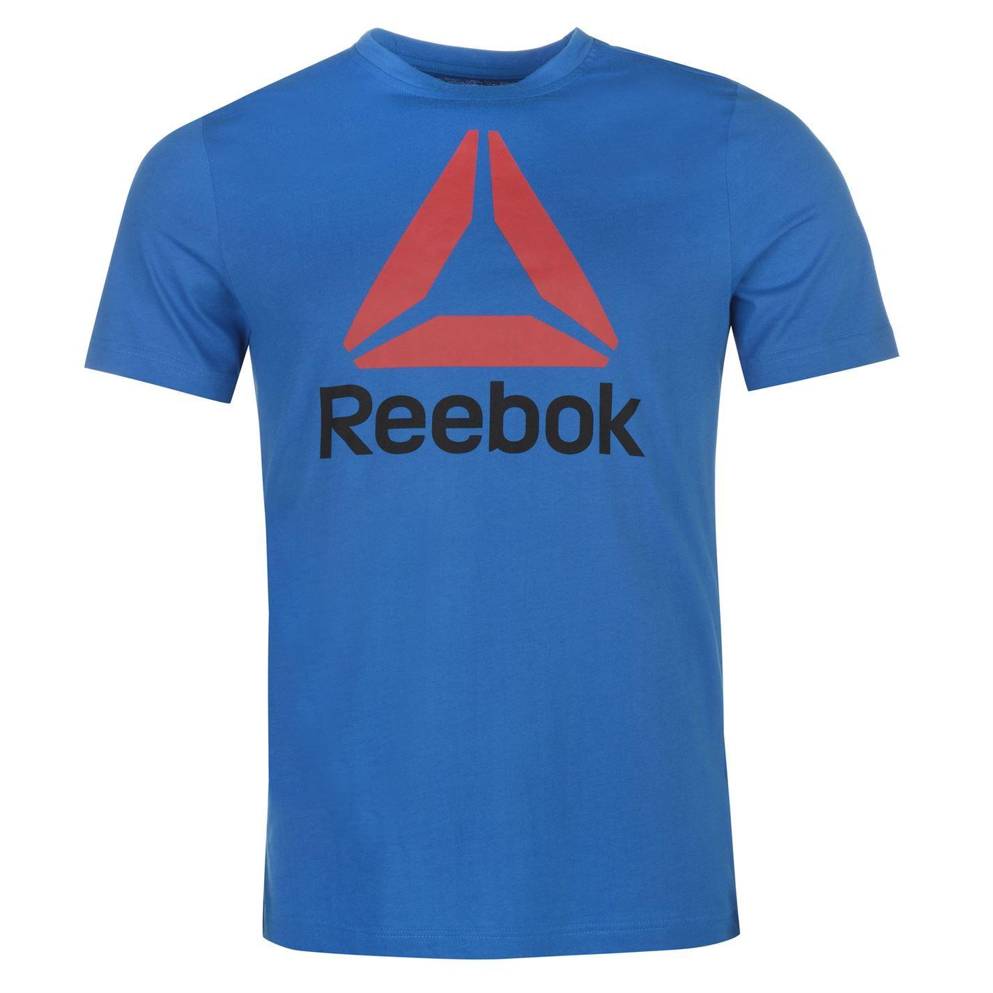 Reebok-Stack-Delta-Logo-T-Shirt-Mens-Tee-Shirt-Top thumbnail 9