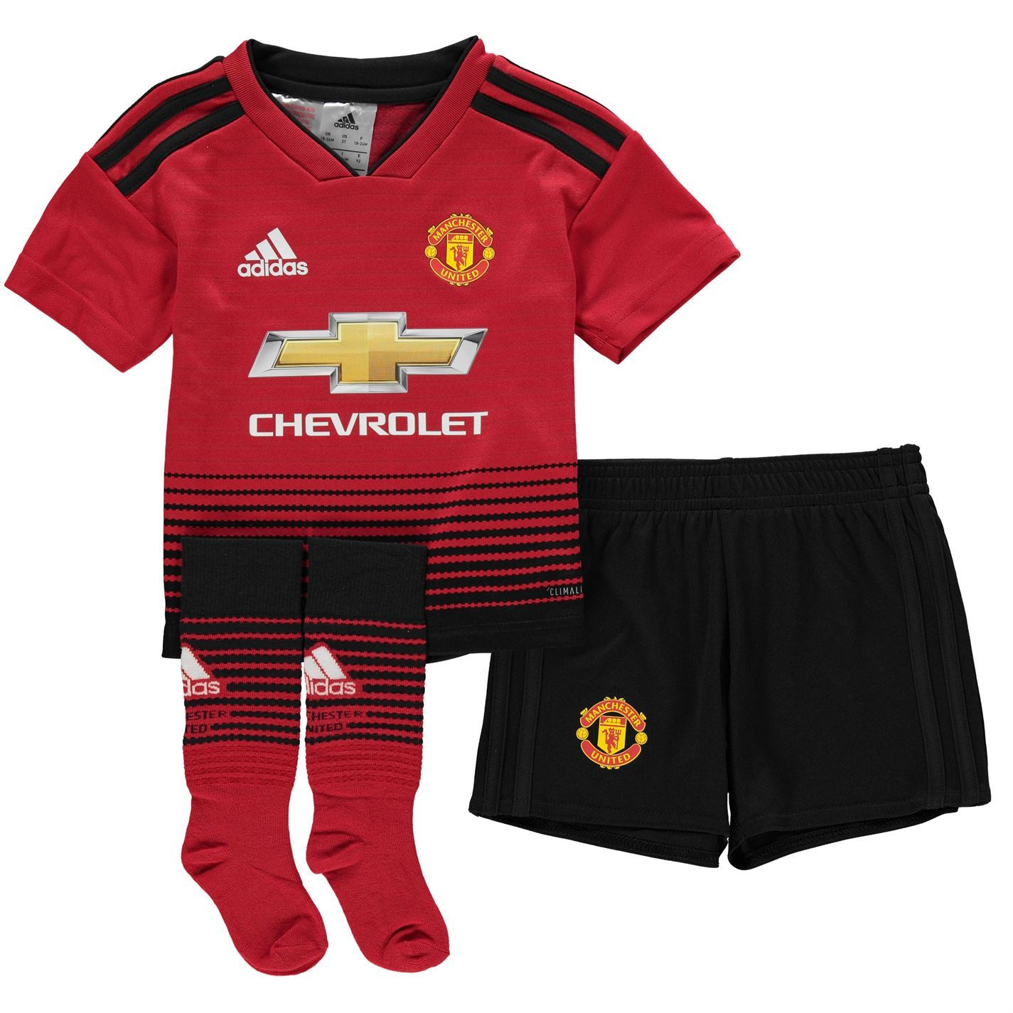 cc07adf7604 adidas Manchester United Home Mini Kit 2018 19 Infants Red Football Soccer  Strip