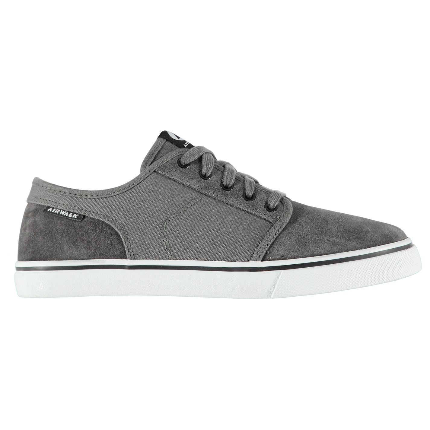 1a0762c9bc034 Airwalk Tempo 2 Skate Shoes Mens Grey Skateboarding Trainers Sneakers