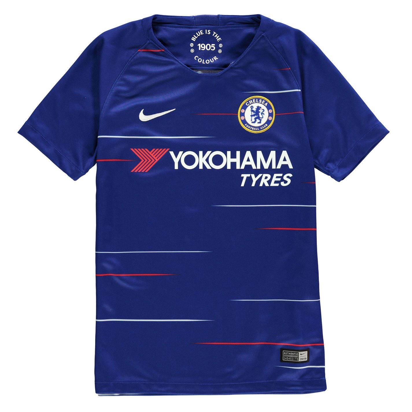 newest 4e130 54170 Details about Nike Chelsea Home Jersey 2018 2019 Juniors Blue Football  Soccer Fan Shirt Top