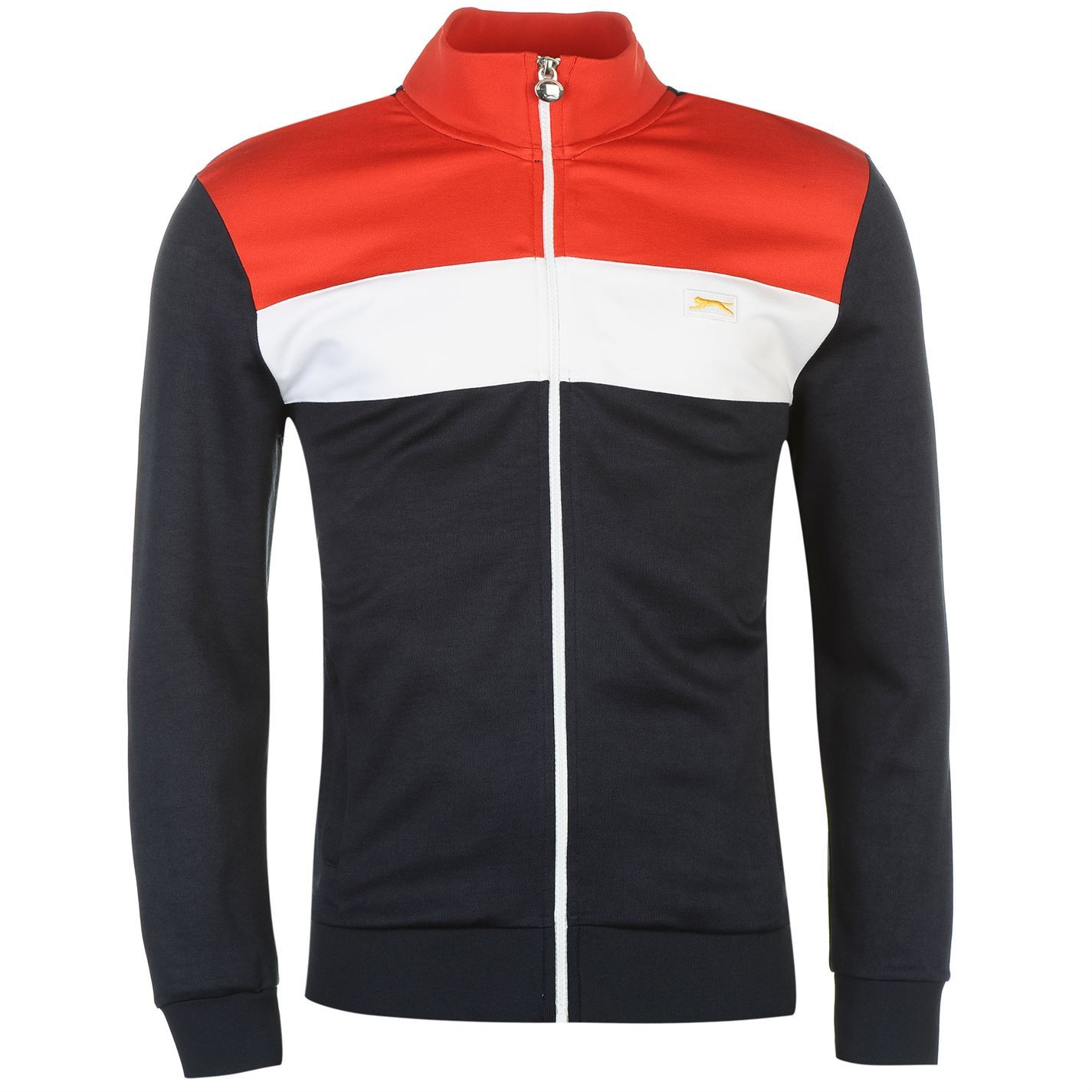 8a6fd7ac397 ... Slazenger Courtside Retro Track Jacket Mens Navy/Red/White Tracksuit  Top ...