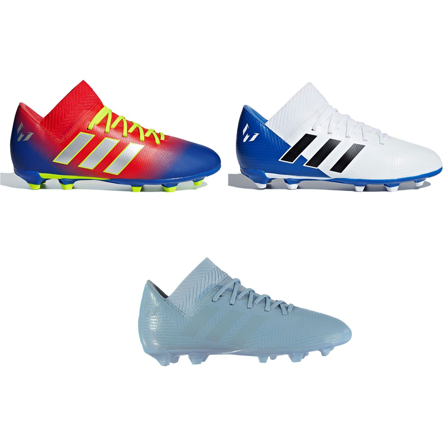18191dbc9f08 ... adidas Nemeziz Messi 18.3 FG Firm Ground Football Boots Childs Soccer  Cleats ...