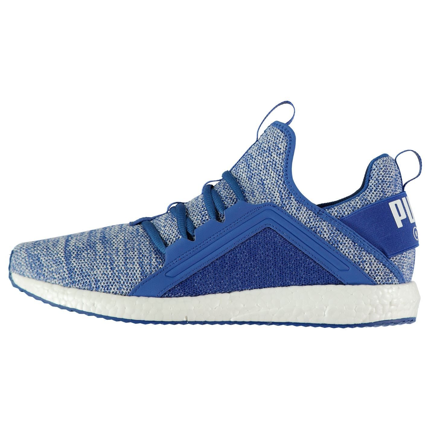 1b88e59062 Details about Puma Mega NGRY Knit Trainers Mens Blue White Athletic  Sneakers Shoes
