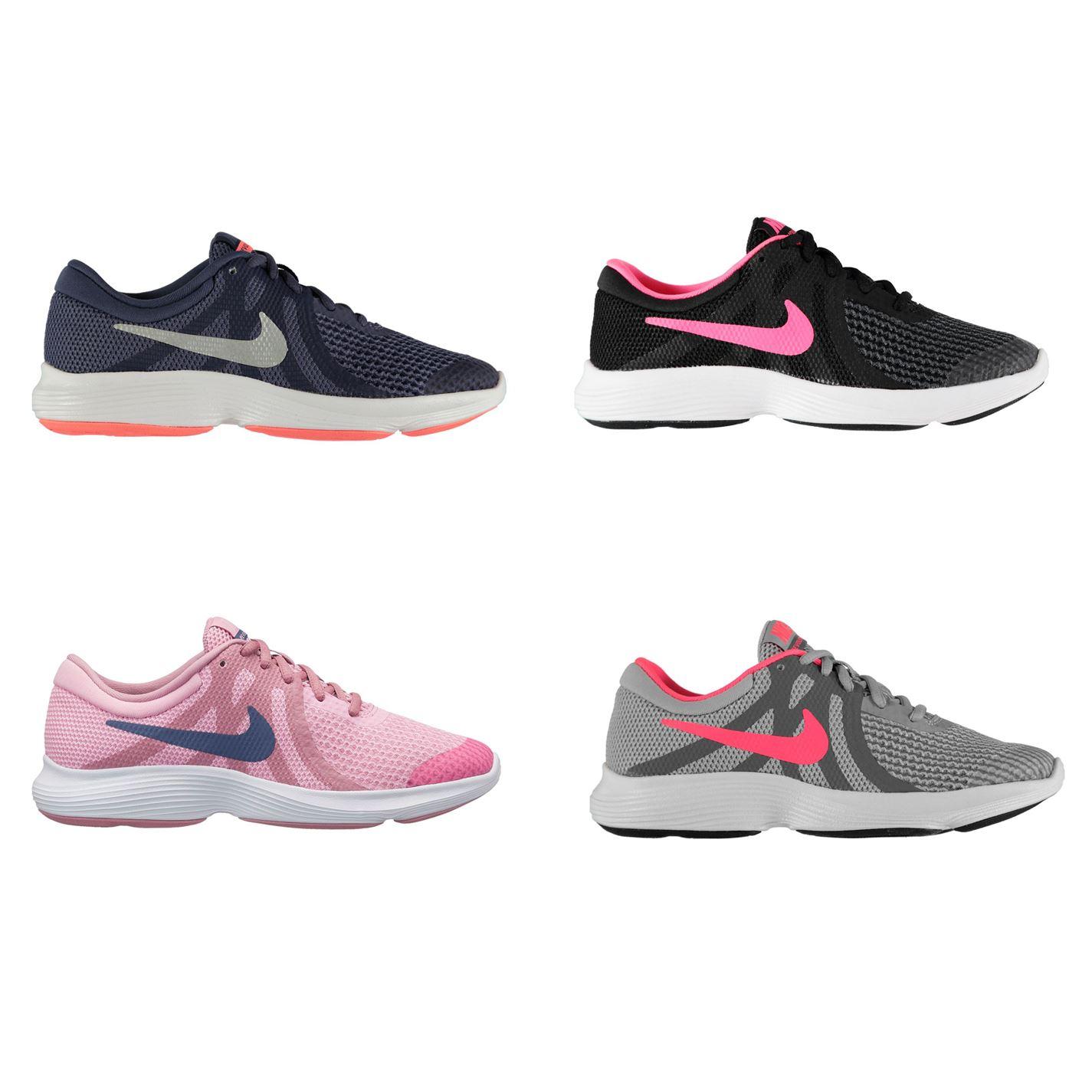 Détails sur Nike Revolution 4 Junior Baskets Filles Chaussures