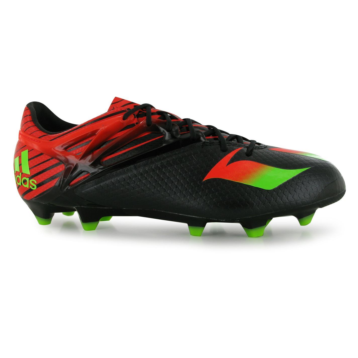 ... adidas Messi 15.1 FG Firm Ground Football Boots Mens Blk/Grn Soccer Cleats  Shoes ...