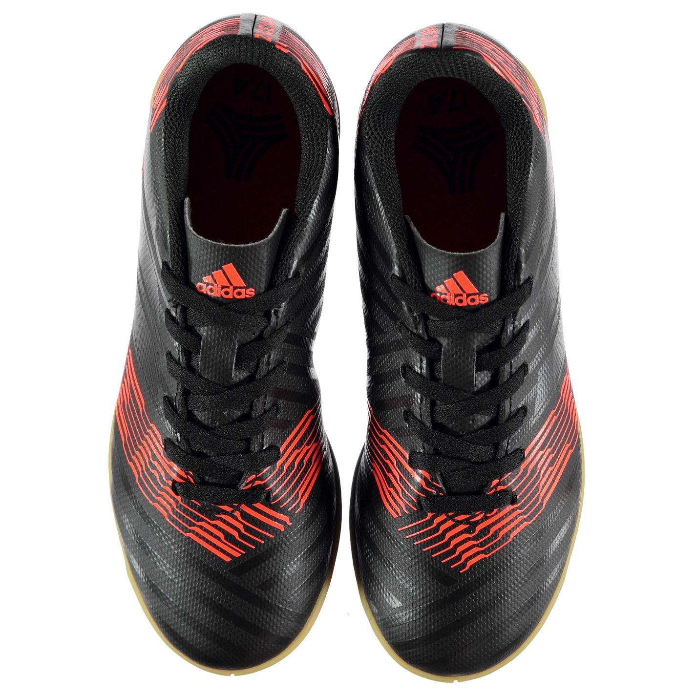 02aba9e46 adidas Nemeziz Tango 17.4 Indoor Football Trainers Childs Black Soccer Shoes