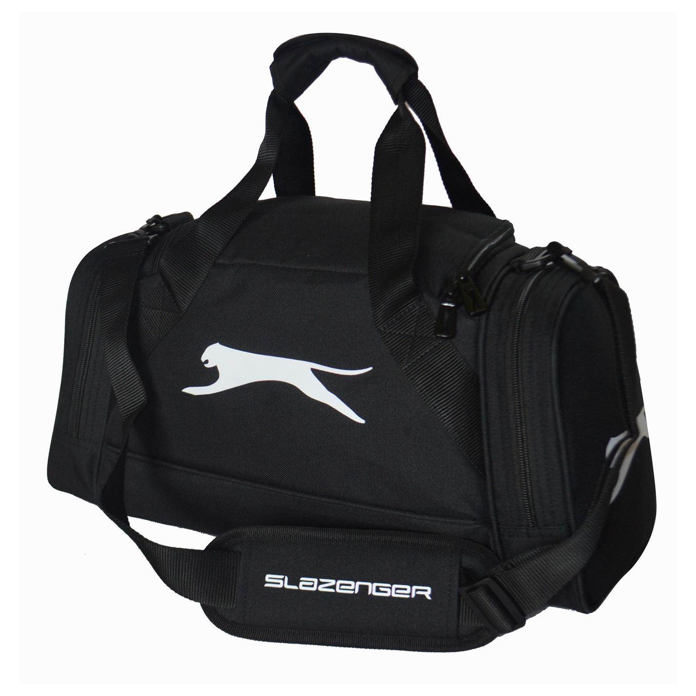 Slazenger Extra Small Holdall Black Sports Bag Gymbag Carryall