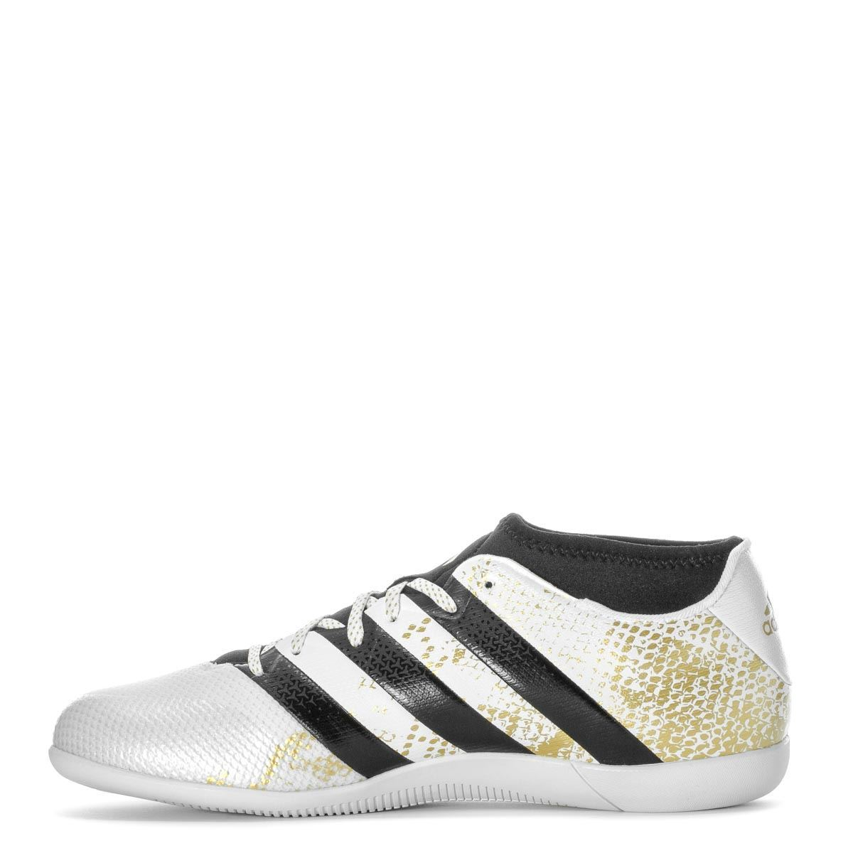 5db98902b0a6 ... adidas Ace 16.3 Primemesh Indoor Football Shoes Mens White/Gold Soccer  Trainers