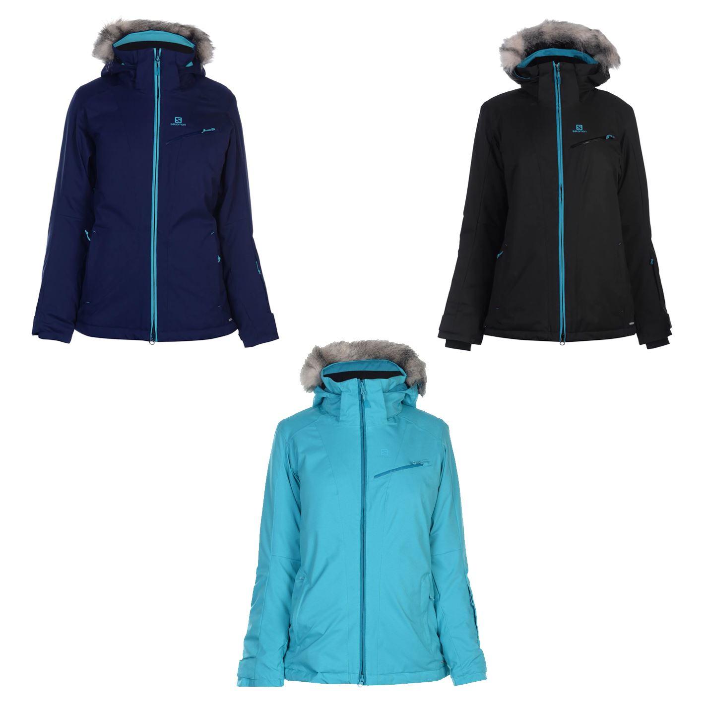 Details about Salomon Rise Ski Jacket Womens Outdoor Top Ladies Outerwear