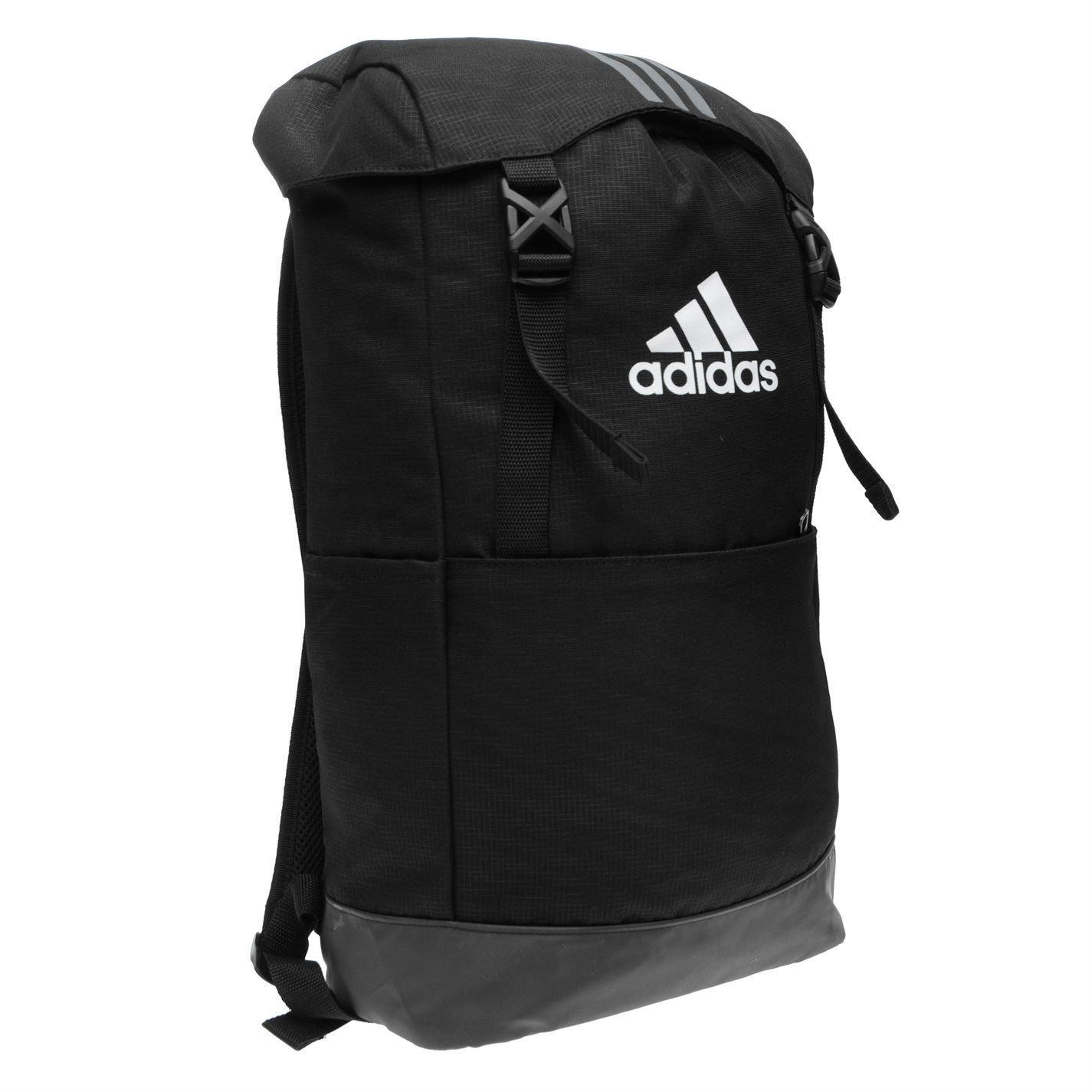 667977f08e21 ... adidas 3 Stripe Performance Backpack Black Wht Sports Gym Bag Rucksack  Carryall ...